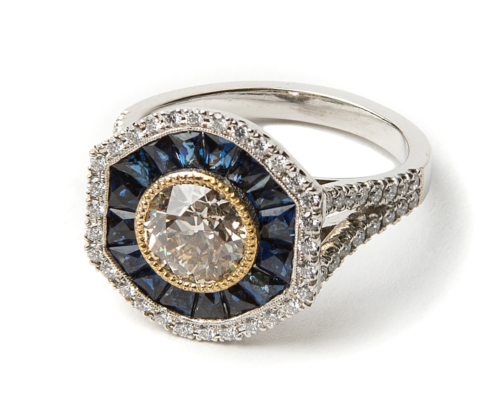 Lord Jewelry platinum sapphire and diamond ring | JCK On Your Market