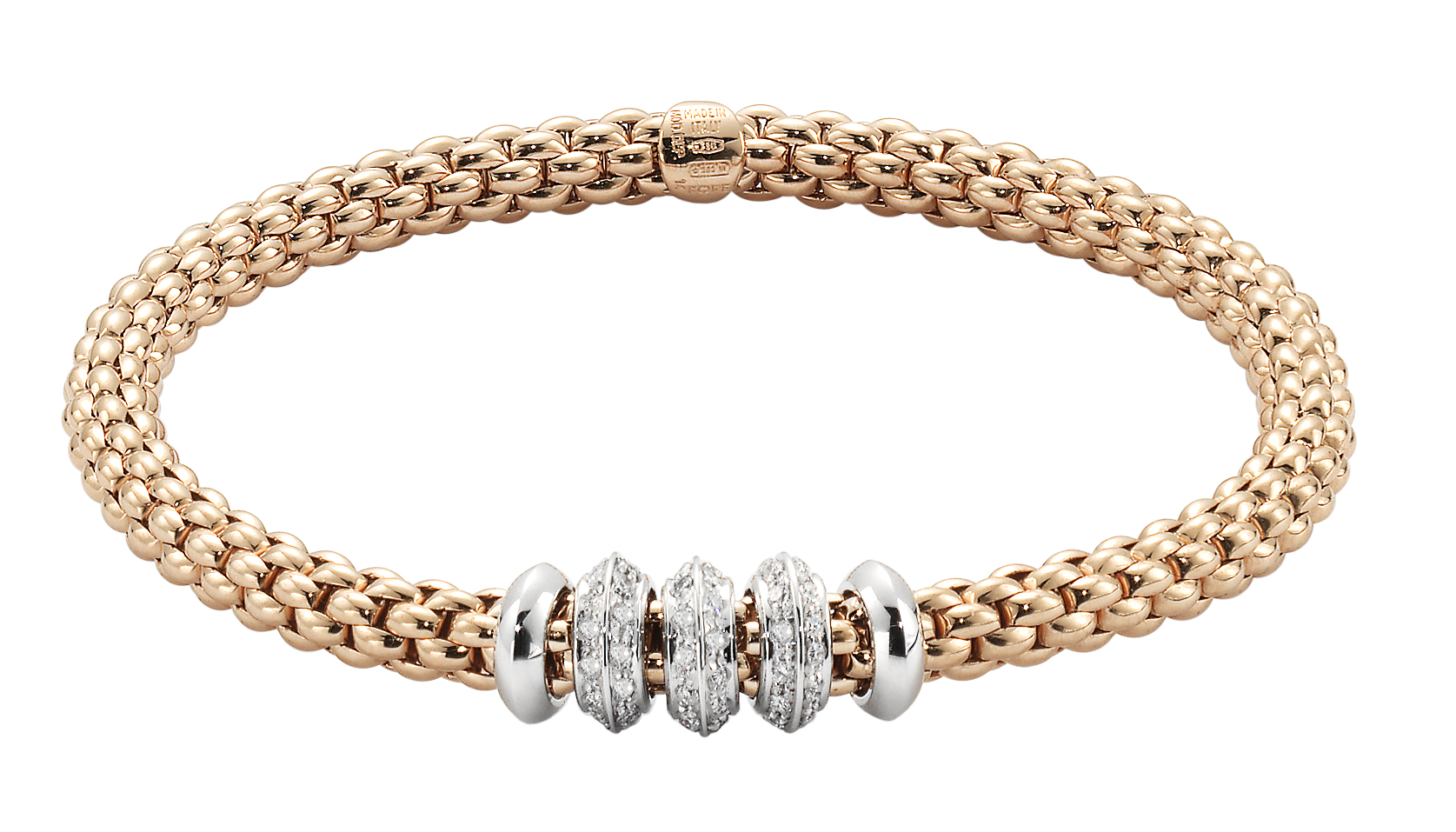 Fope Solo collection Flex'it bracelet with diamonds | JCK On Your Market