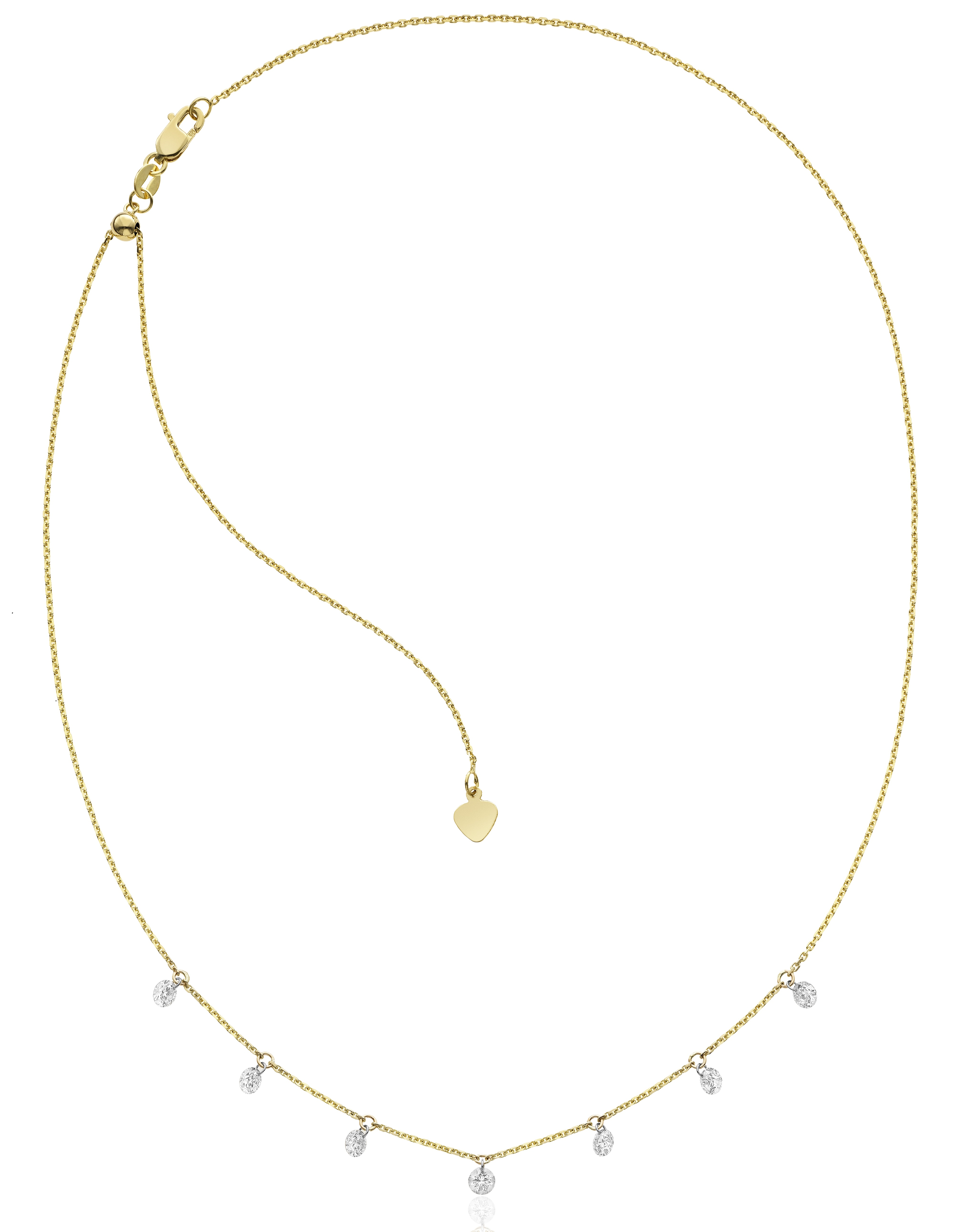 S and R Designs 7-stone dangle necklace | JCK On Your Market