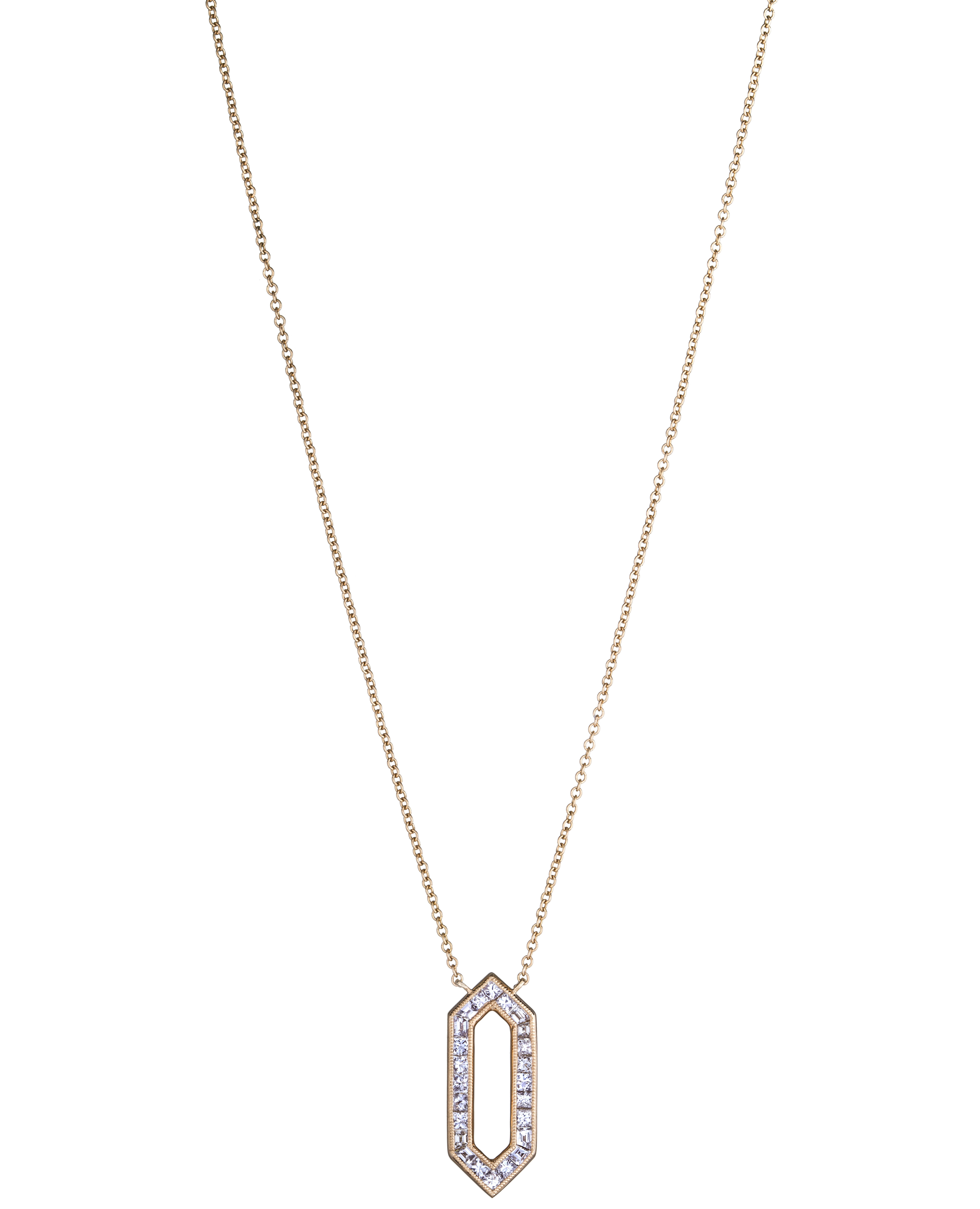 Sethi Couture hexagon diamond necklace | JCK On Your Market