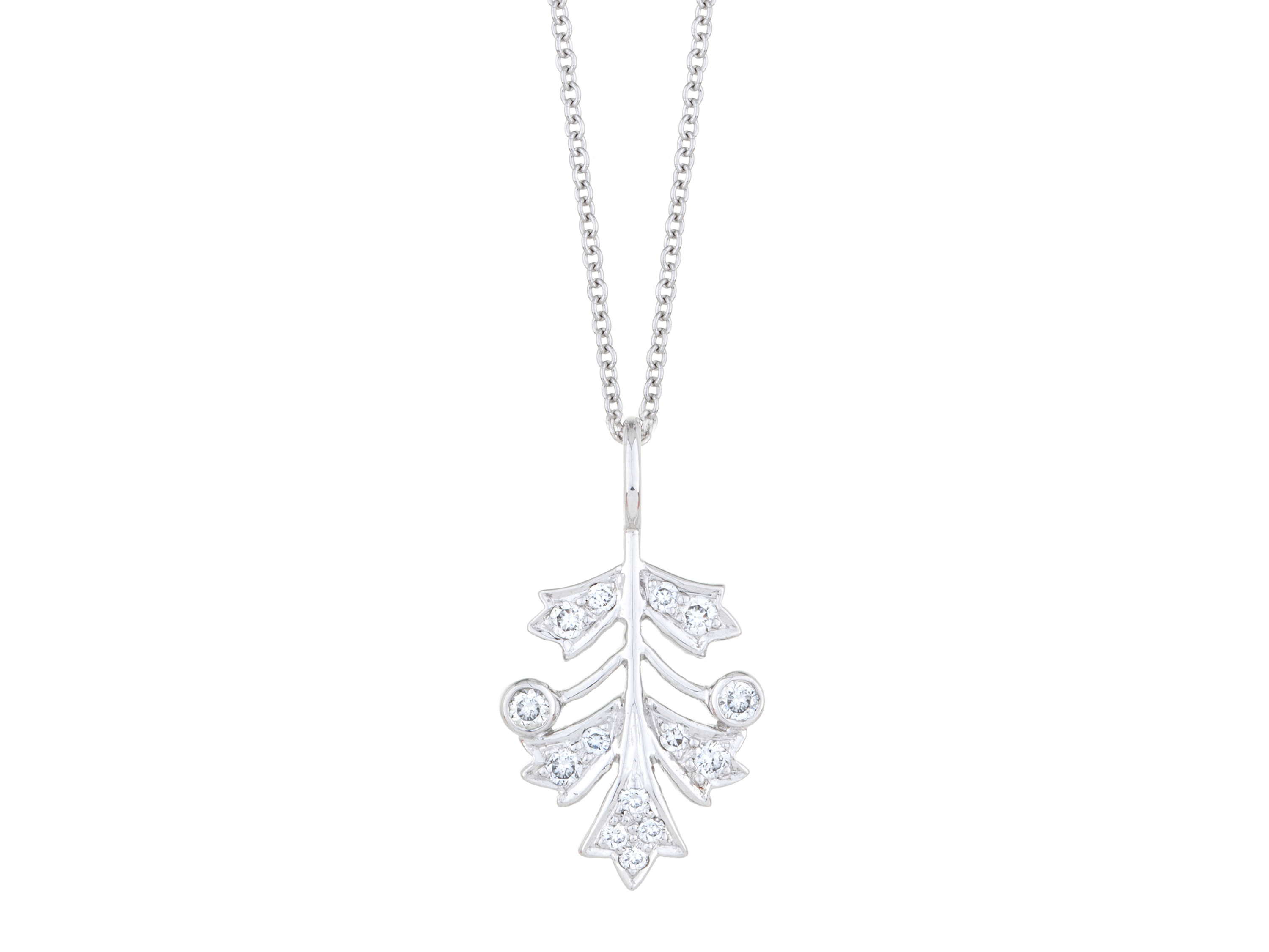 Sethi Couture diamond leaf necklace | JCK On Your Market