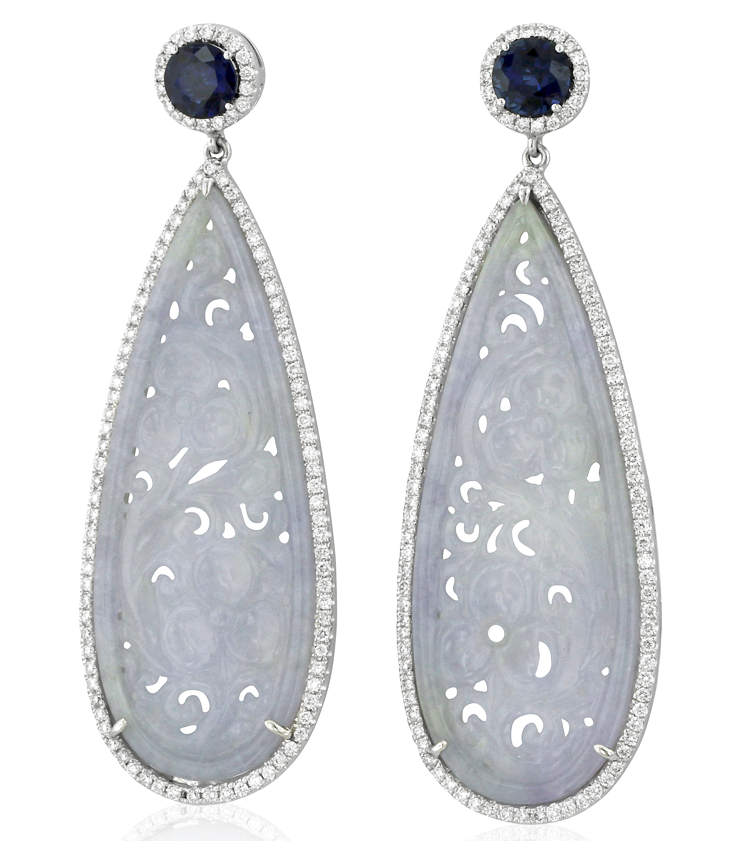 Yael Designs jade and sapphire earrings| JCK On Your Market