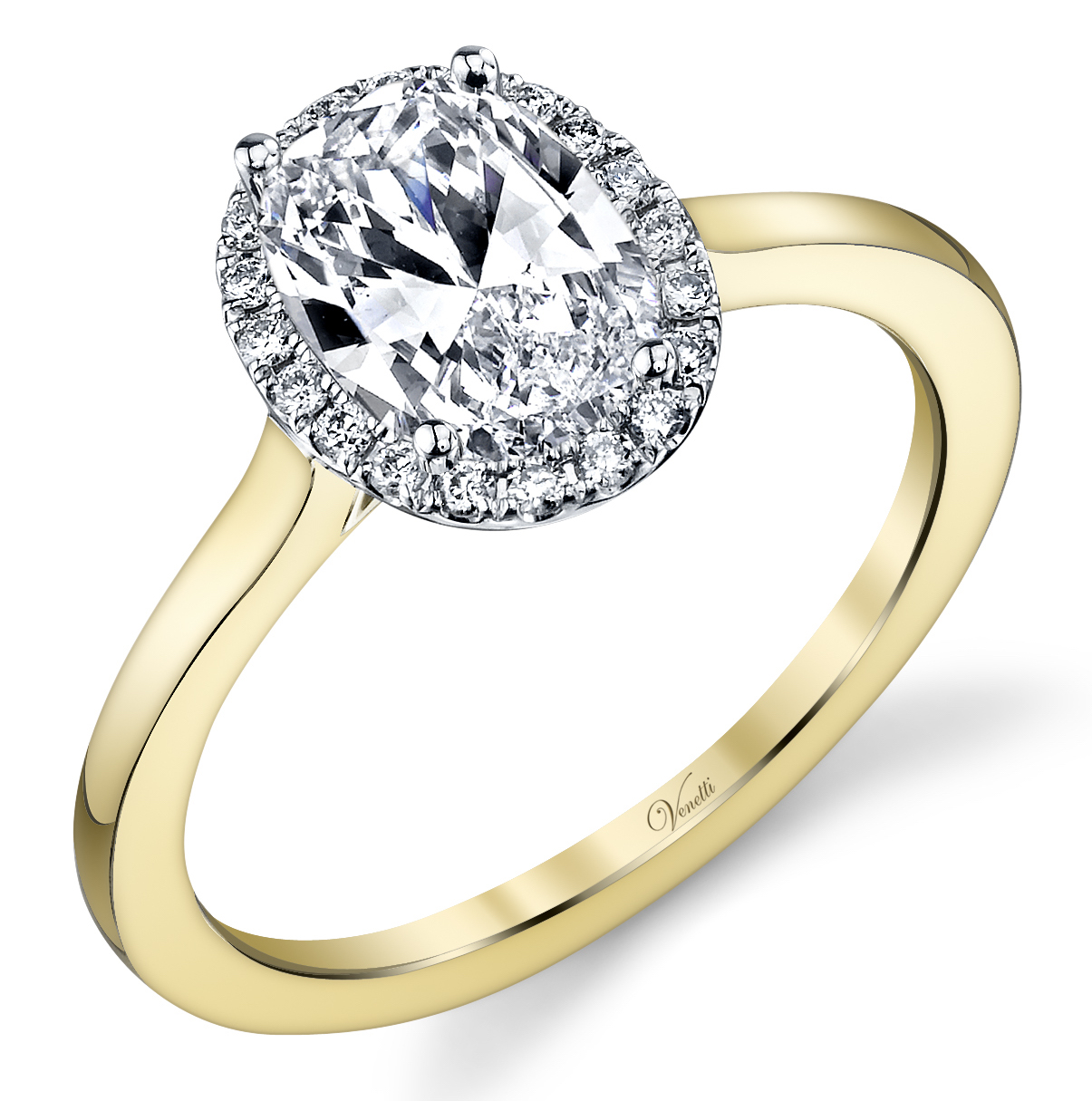 Venetti two-tone oval diamond engagement ring | JCK On Your Market