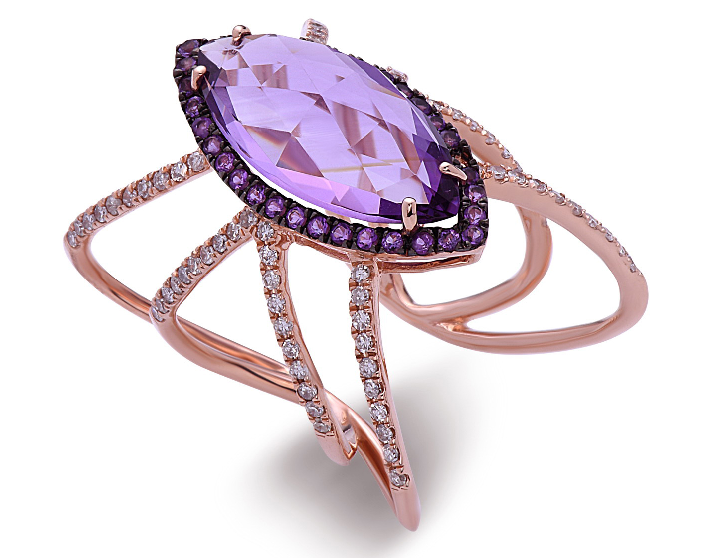 Dilamani amethyst Spider ring | JCK On Your Market