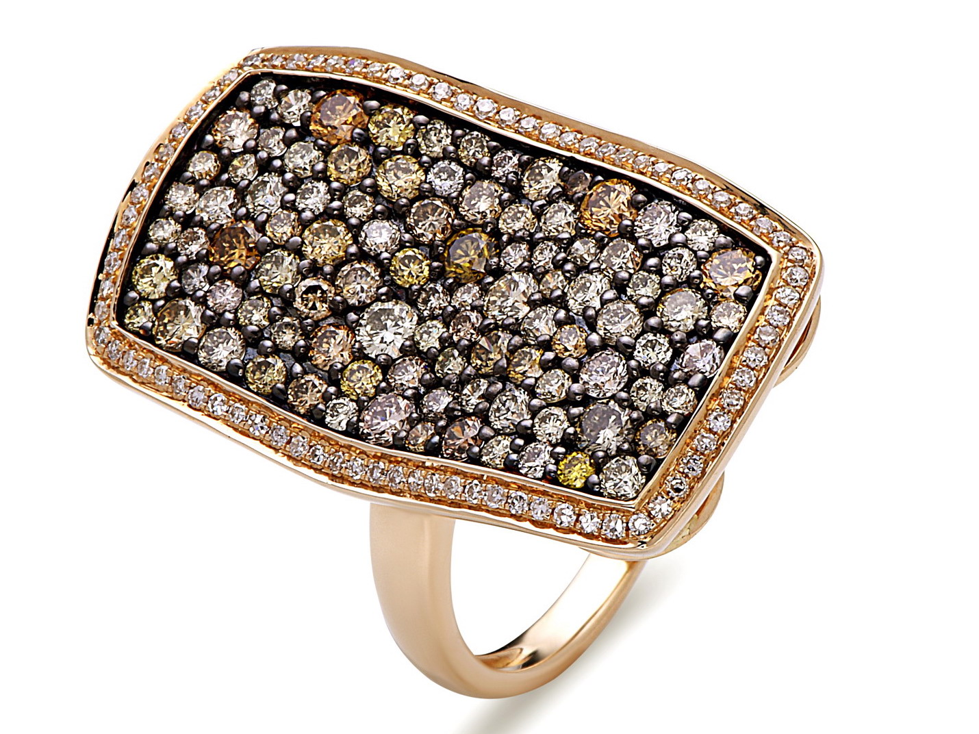 Dilamani fancy diamond shield ring | JCK On Your Market