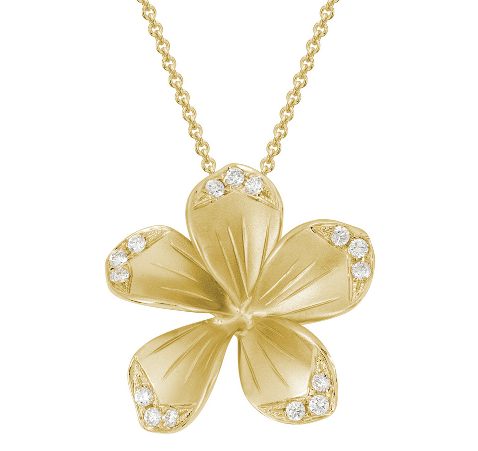 Artistry, Ltd. Plumeria pendant | JCK On Your Market