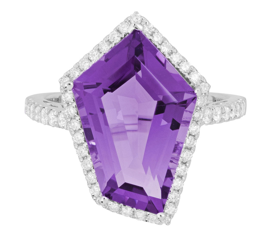 Artistry, Ltd. fancy-cut geometric amethyst ring | JCK On Your Market