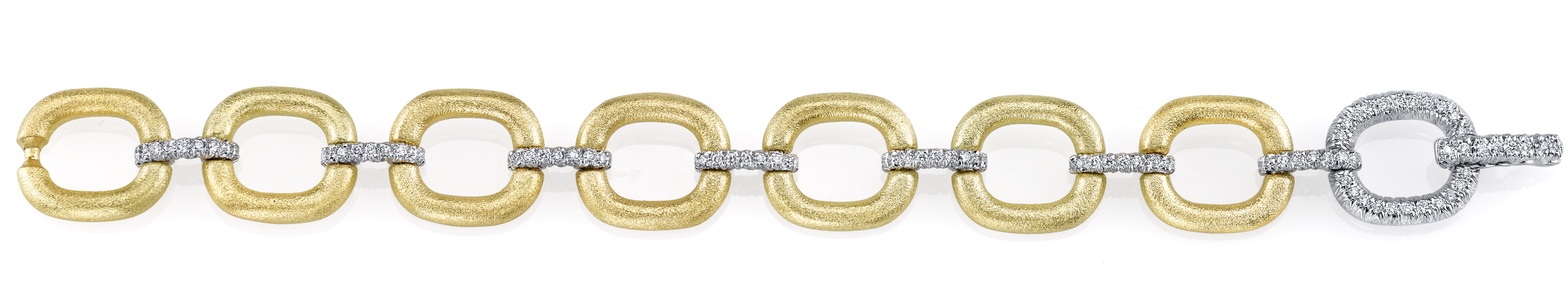 Aaron Henry cushion-shape diamond link bracelet | JCK On Your Market