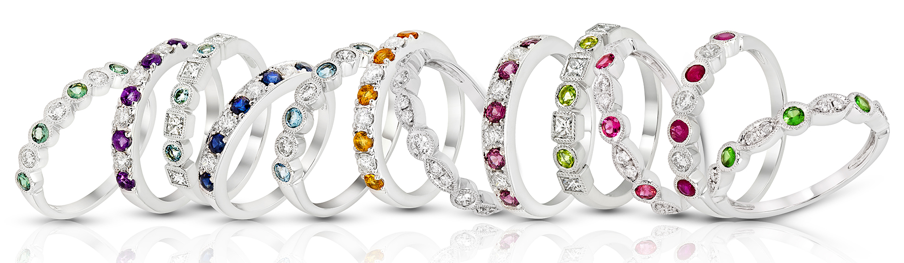 Costar Imports stackable birthstone band collection | JCK Supplier News