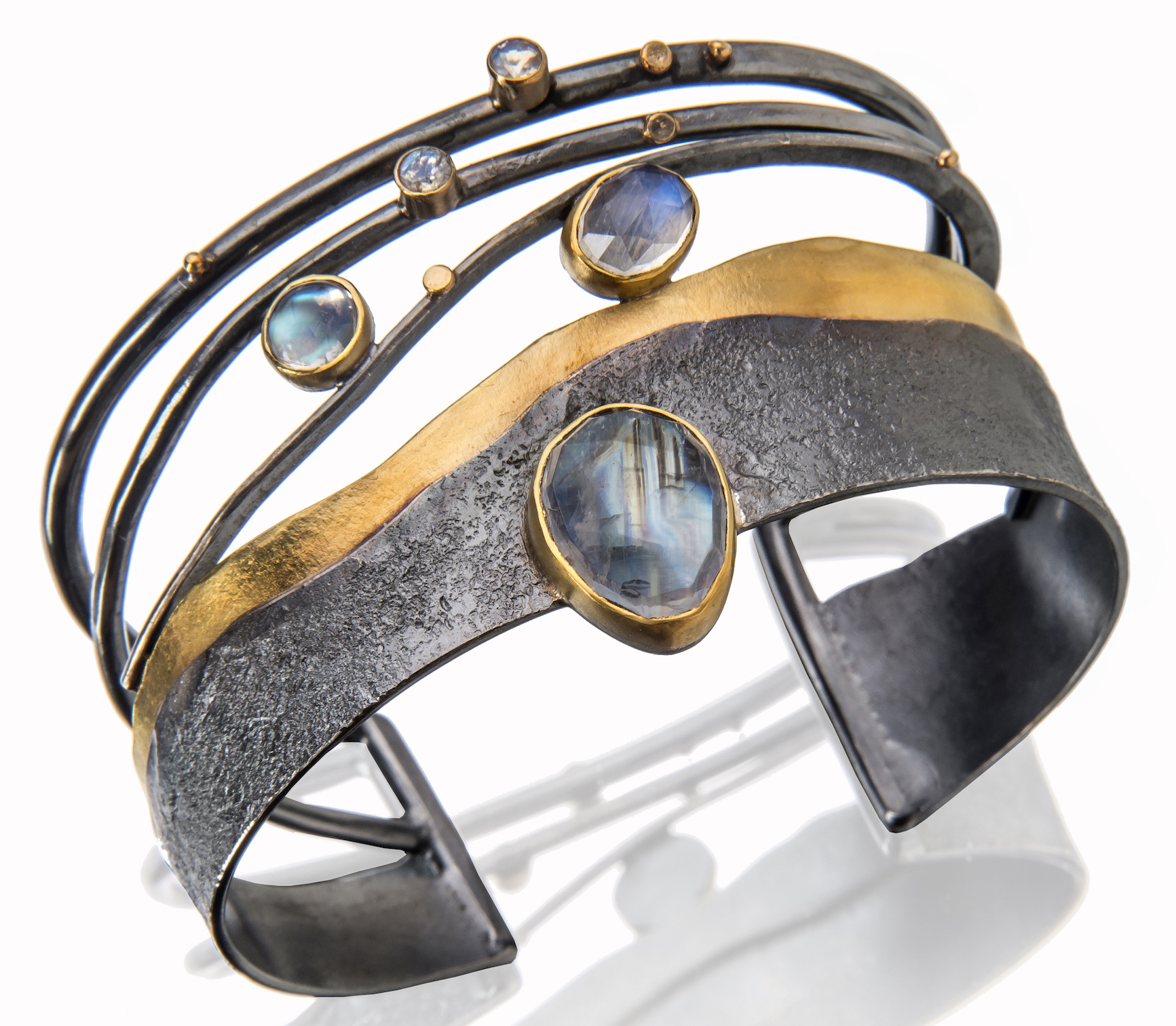 Sydney Lynch moonstone Reef cuff bracelet | JCK On Your Market