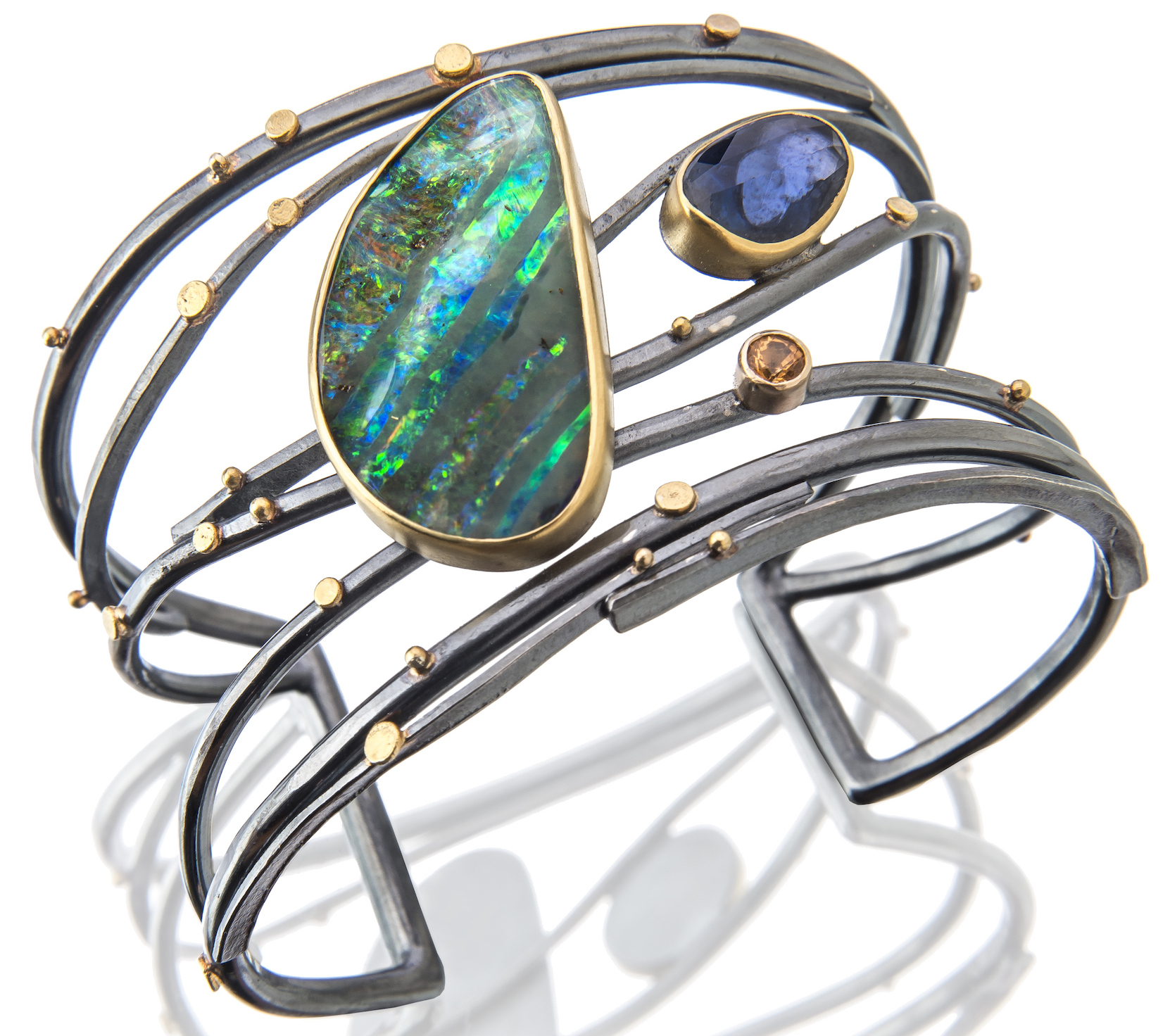 Sydney Lynch Twig Boulder opal cuff bracelet | JCK On Your Market