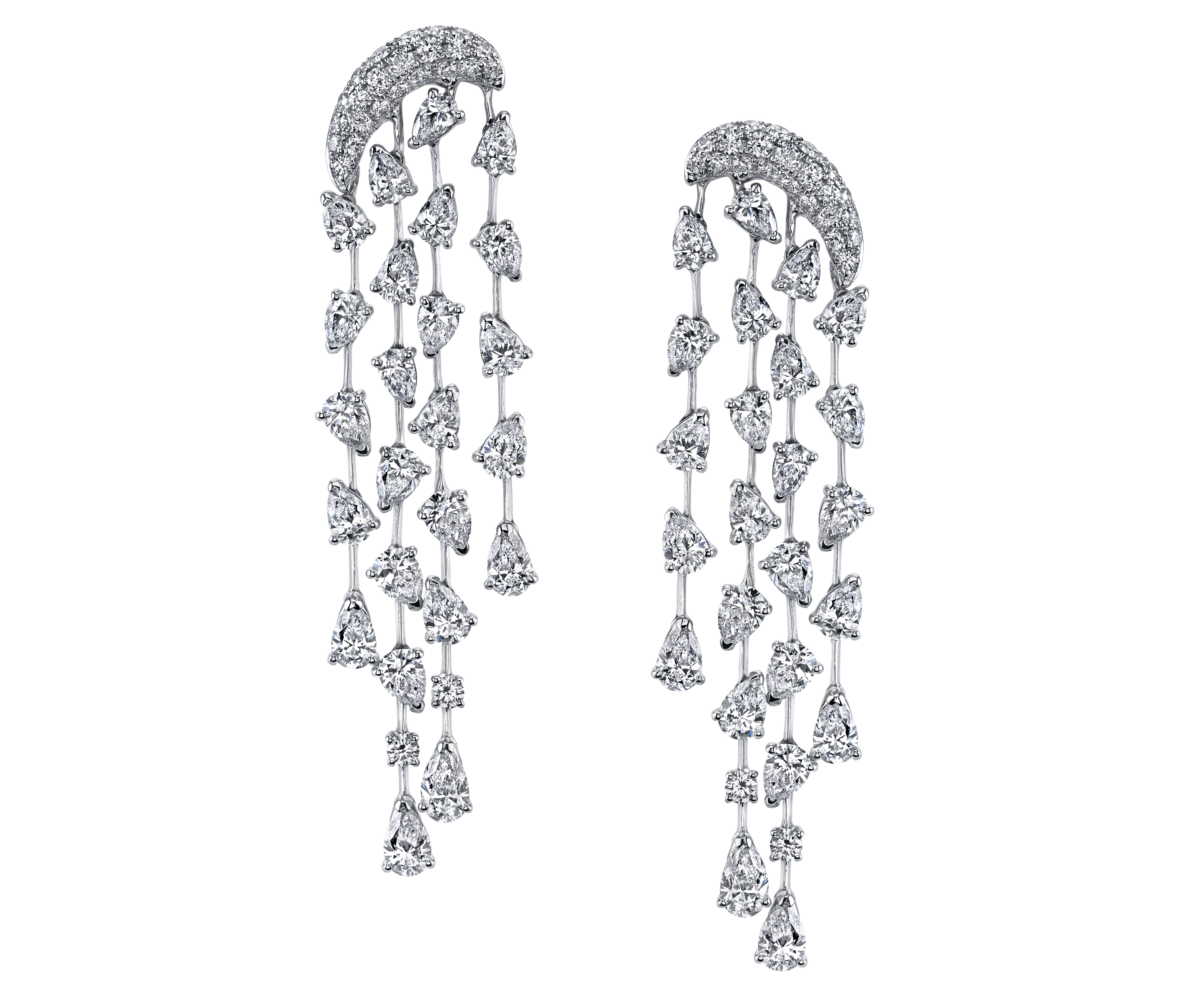 Butani diamond waterfall earrings | JCK On Your Market