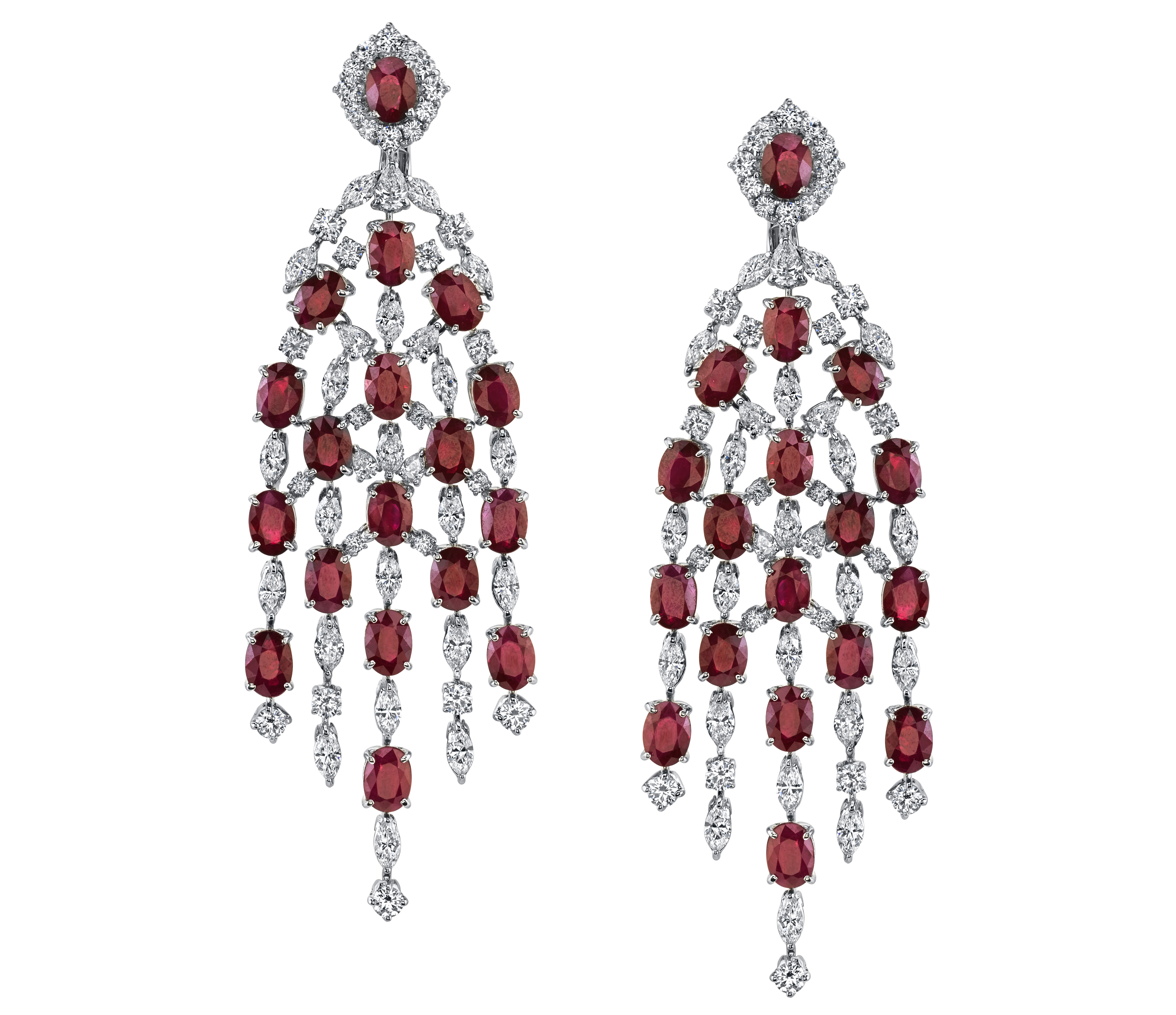 Red Diamond Chandelier Earrings: 12 Jewels For The Red Carpet Of Life