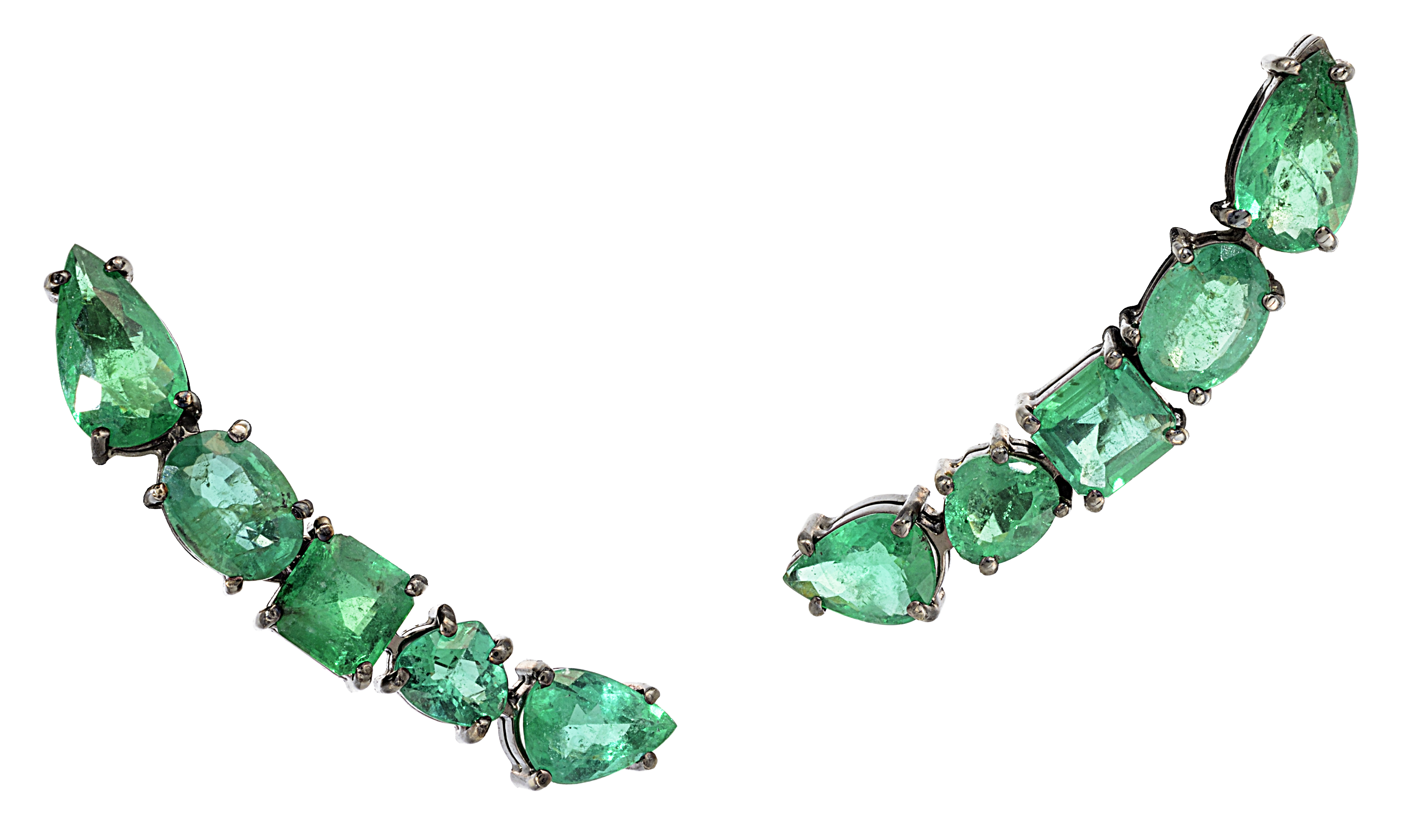 Graziela Gems Couture emerald ear climbers | JCK On Your Market