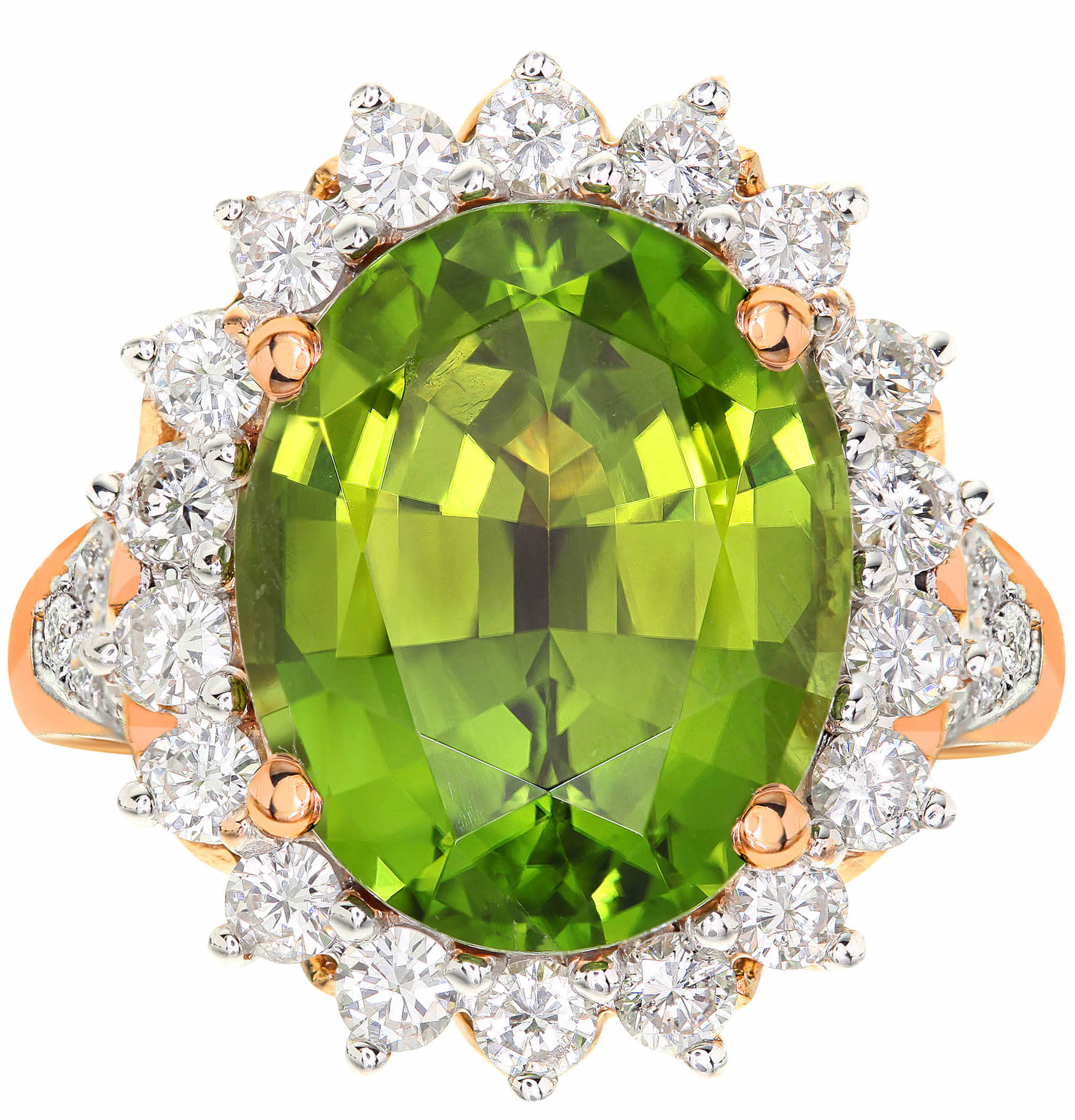 Alishaev Brothers peridot and diamond ring | JCK On Your Market