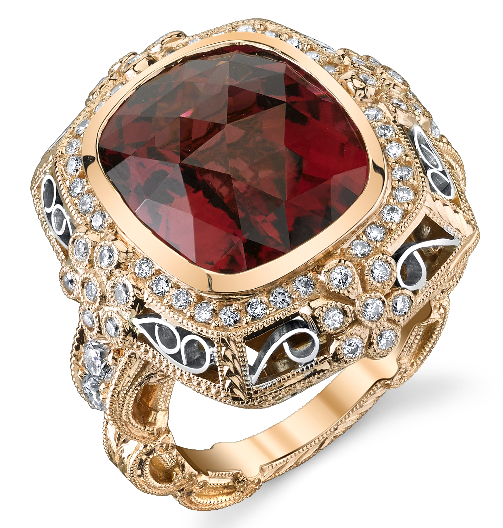 Dallas Prince Designs Moonlight Rose tourmaline ring | JCK On Your Market
