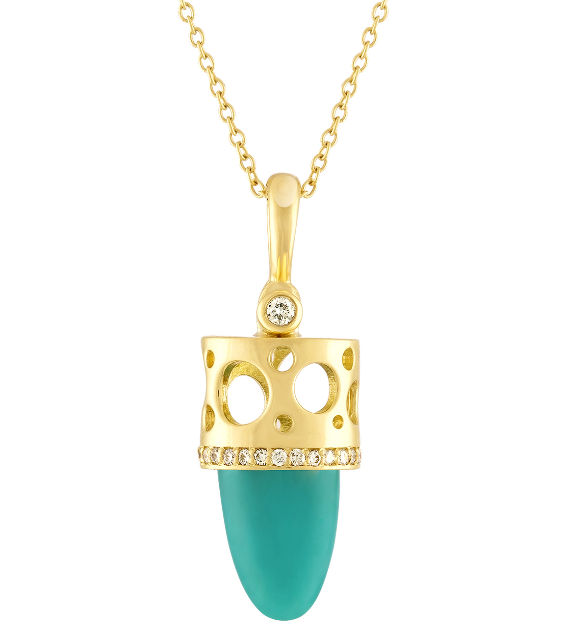 Dana Bronfman chrysocolla Talisman pendant | JCK On Your Market