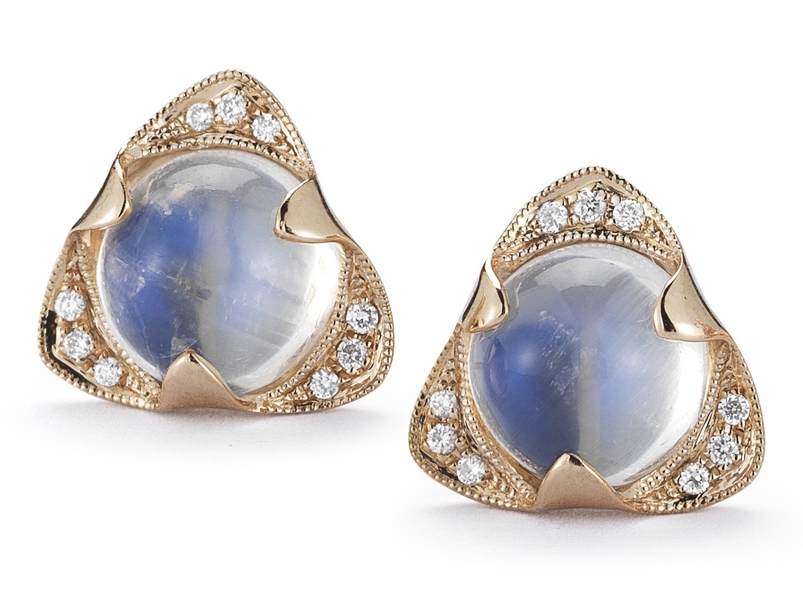 Dana Rebecca Designs moonstone stud earrings | JCK On Your Market
