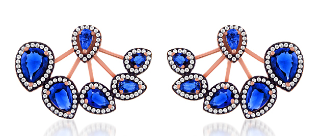 Charming Silver blue CZ earring jackets | JCK On Your Market