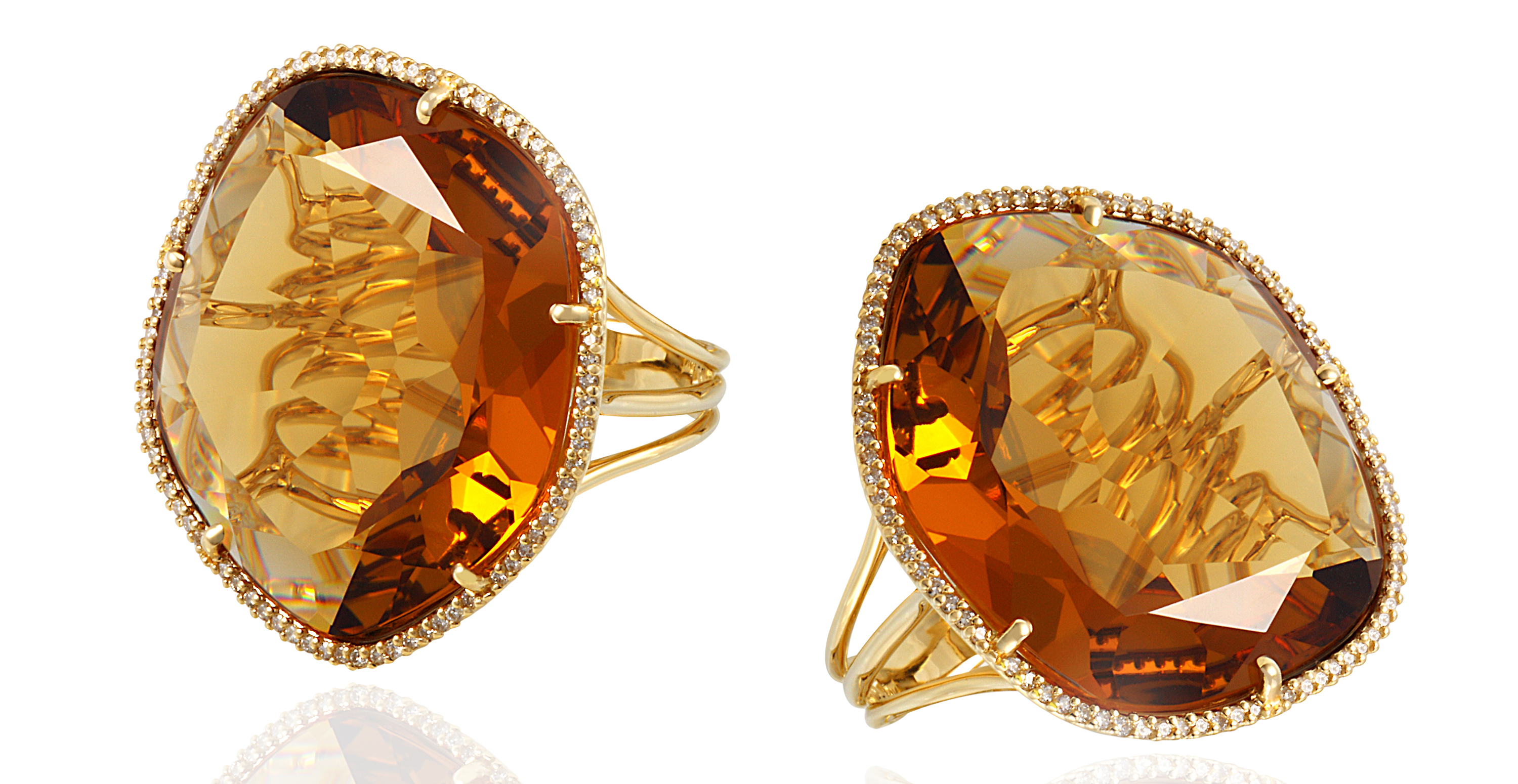 Vianna Brasil Dedalo citrine rings | JCK On Your Market
