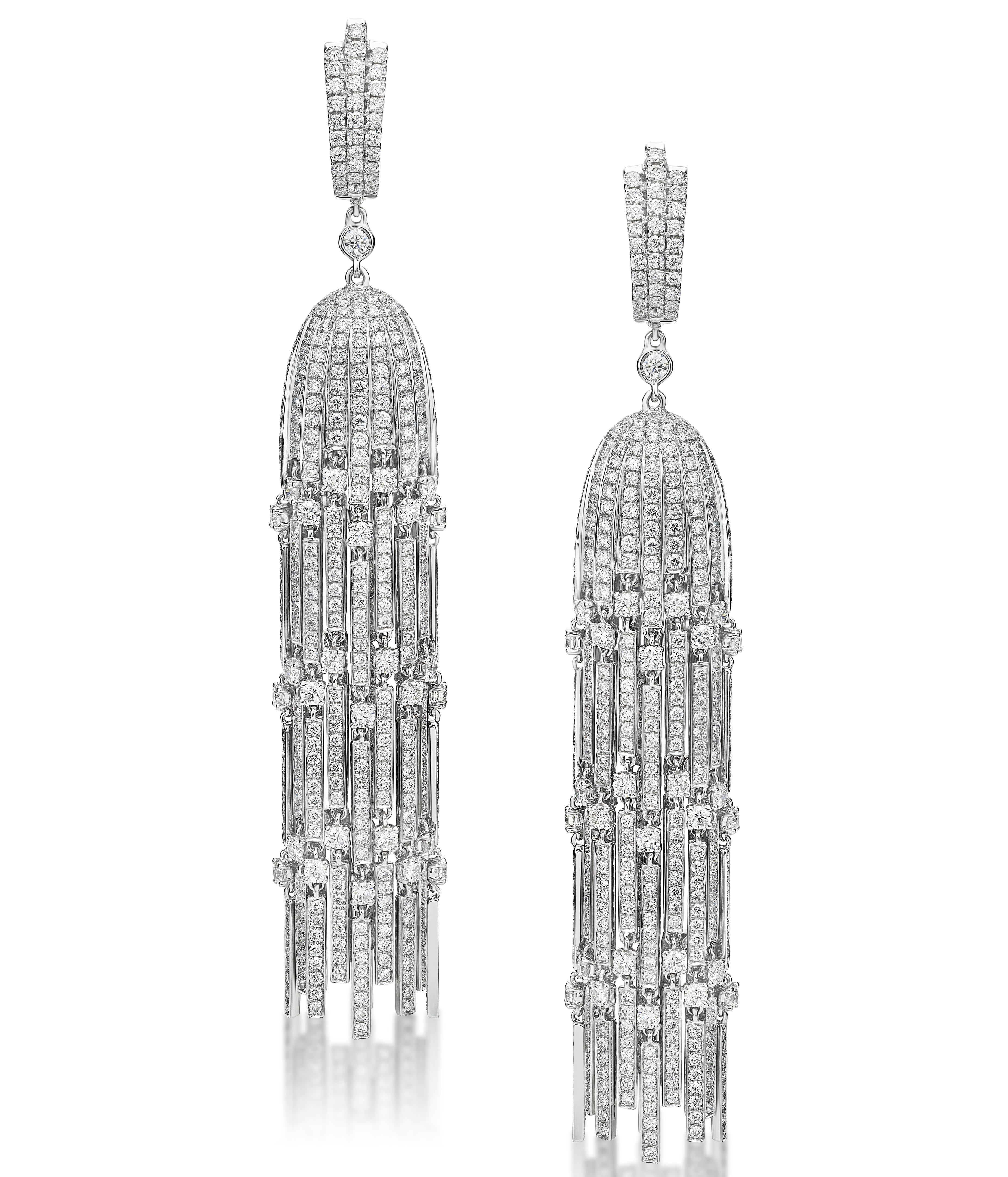 Butani diamond chandelier earrings | JCK On Your Market