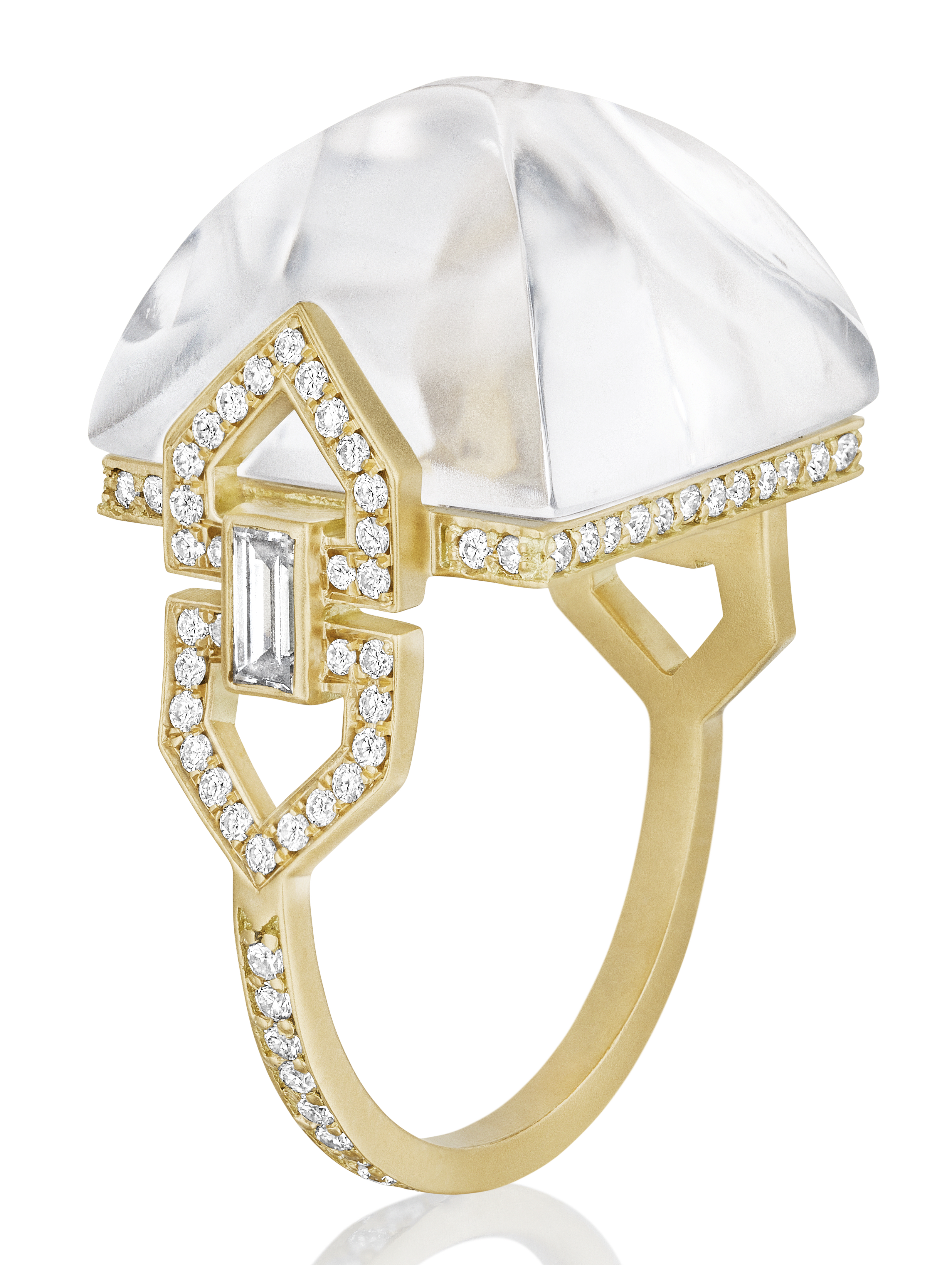 Doryn Wallach sugar loaf rock crystal ring | JCK On Your Market