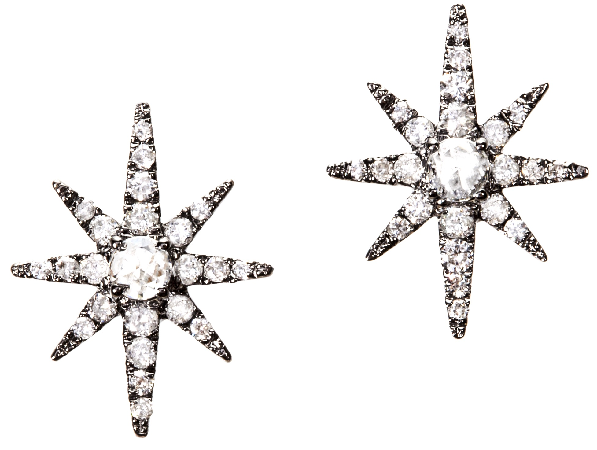 Graziela Gems black starburst stud earrings | JCK On Your Market