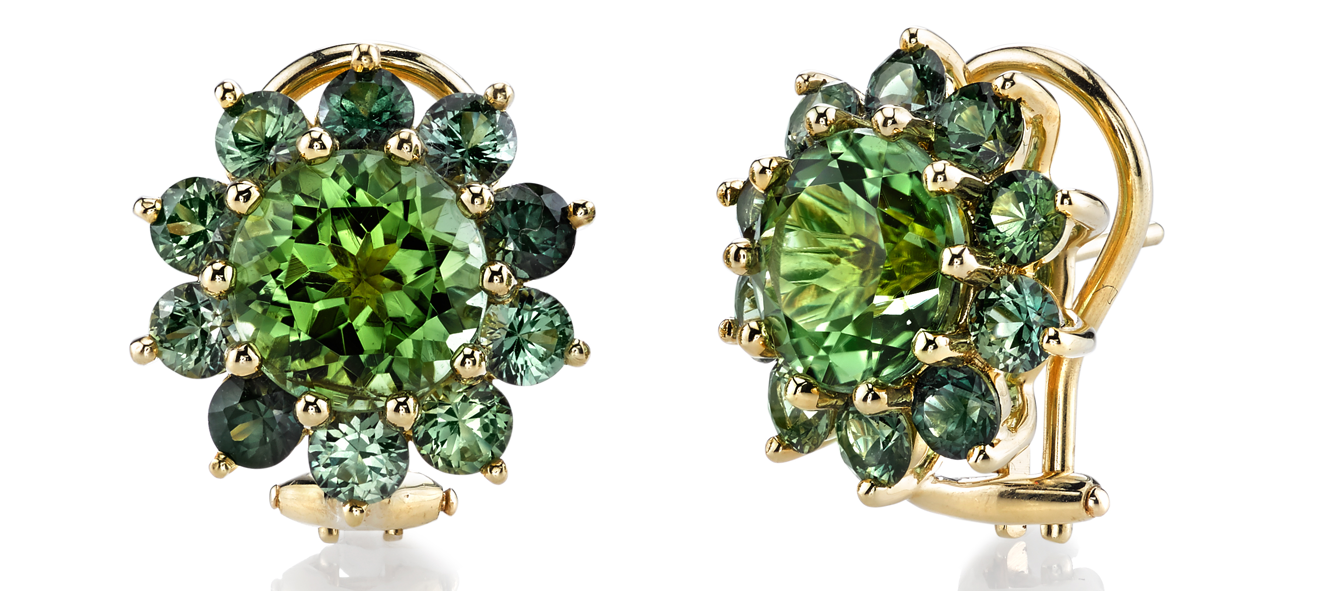 Aaron Henry green tourmaline and green sapphire earrings | JCK On Your Market