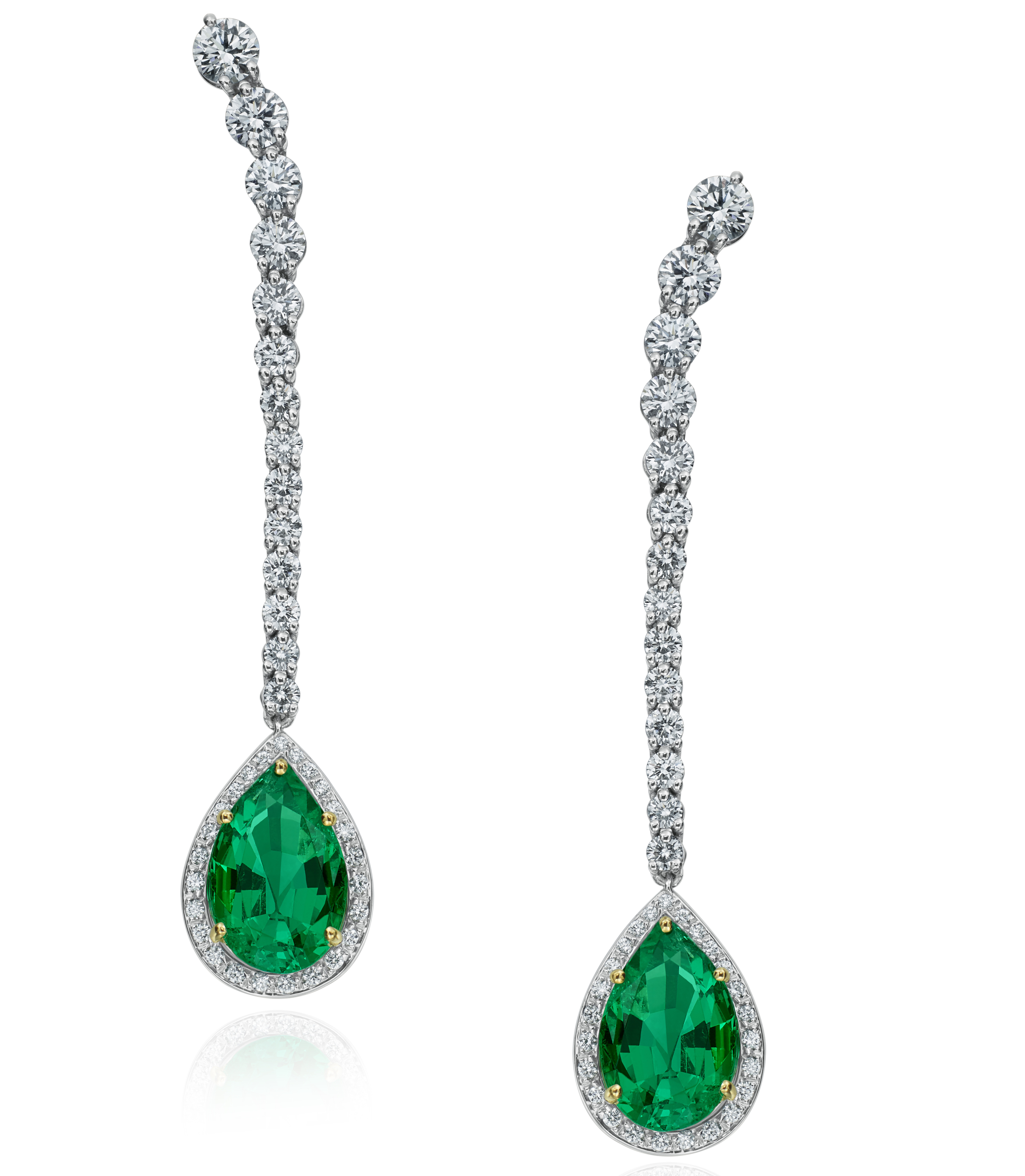 Gumuchian emerald and diamond Riviera earrings | JCK On Your Market