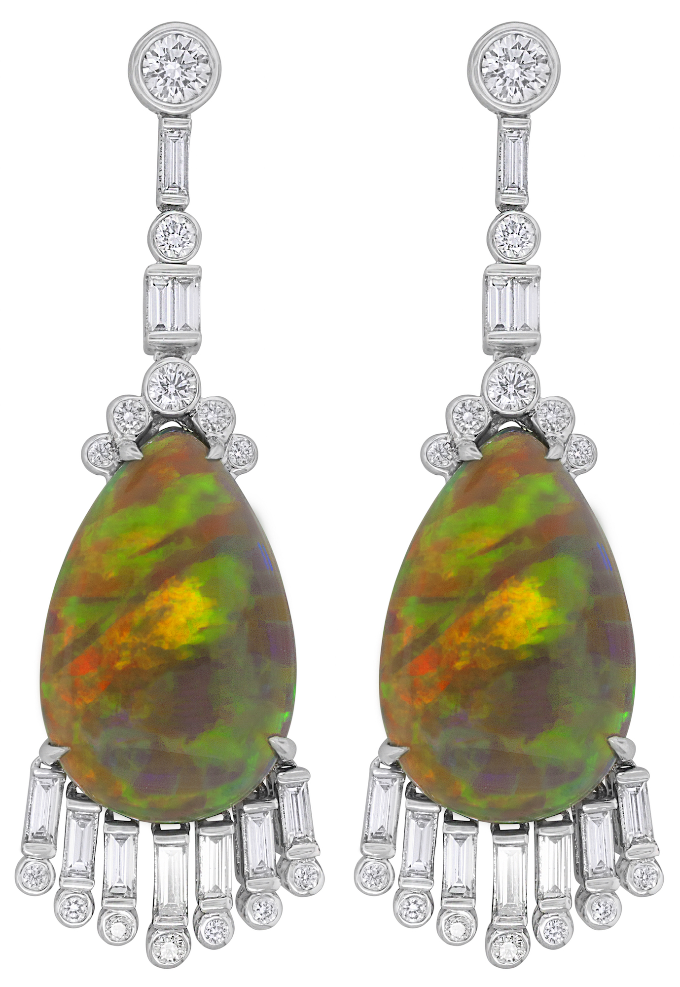 Spark opal and diamond drop earrings | JCK On Your Market