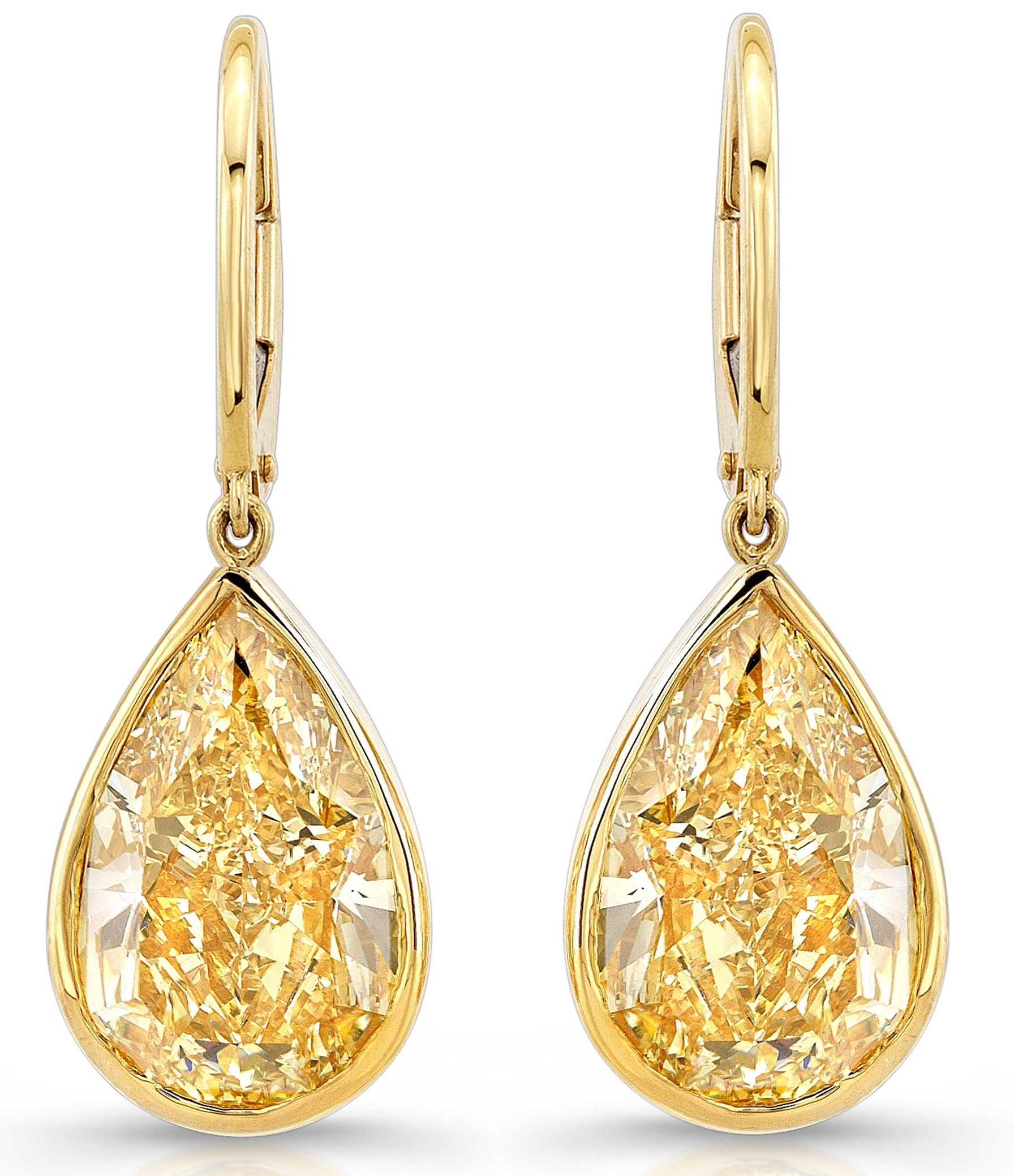 Rahaminov yellow diamond drop earrings | JCK On Your Market