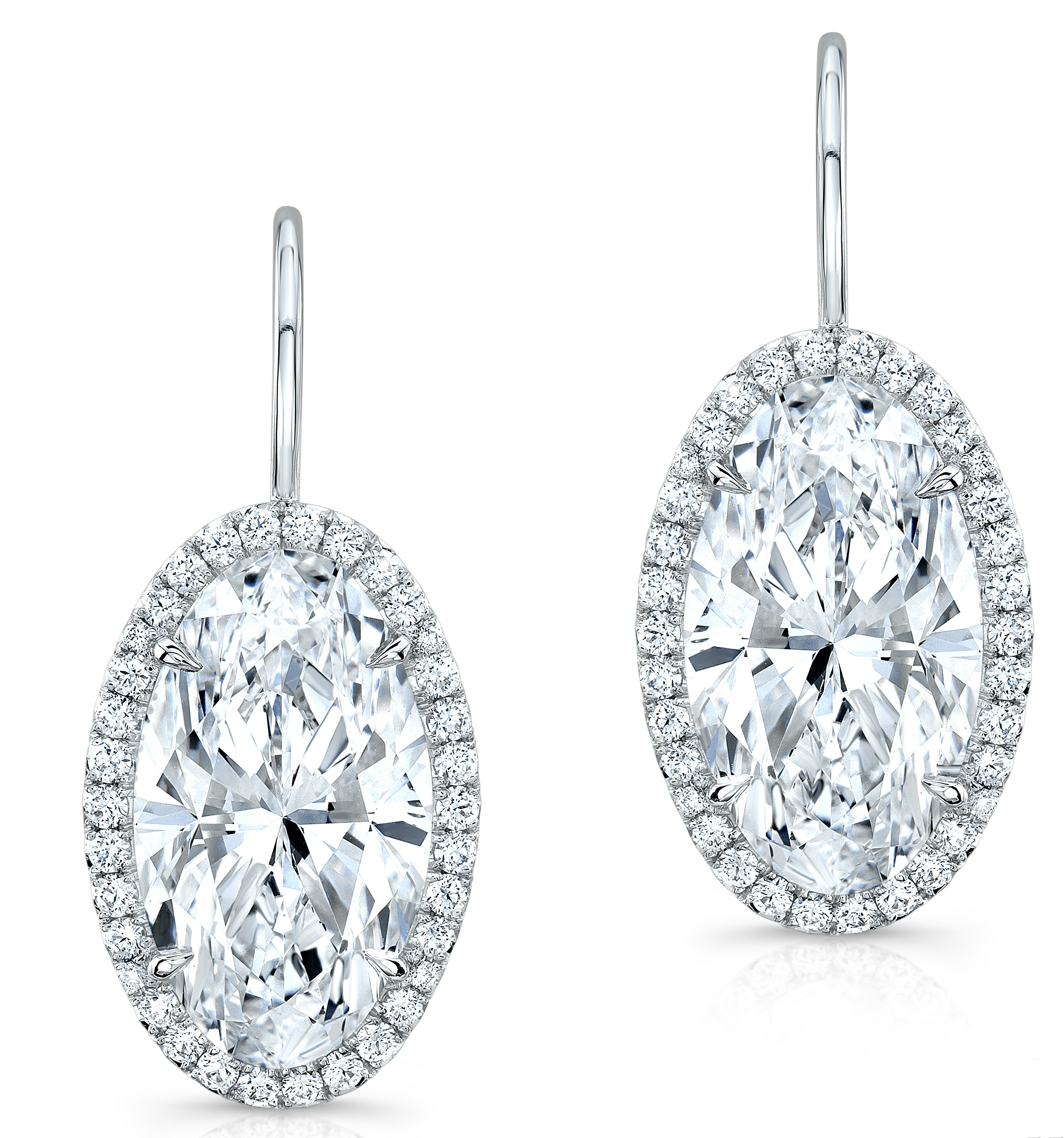 Rahaminov oval diamond earrings | JCK On Your Market