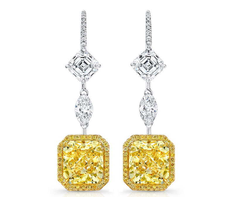 Rahaminov fancy diamond drop earrings | JCK On Your Market