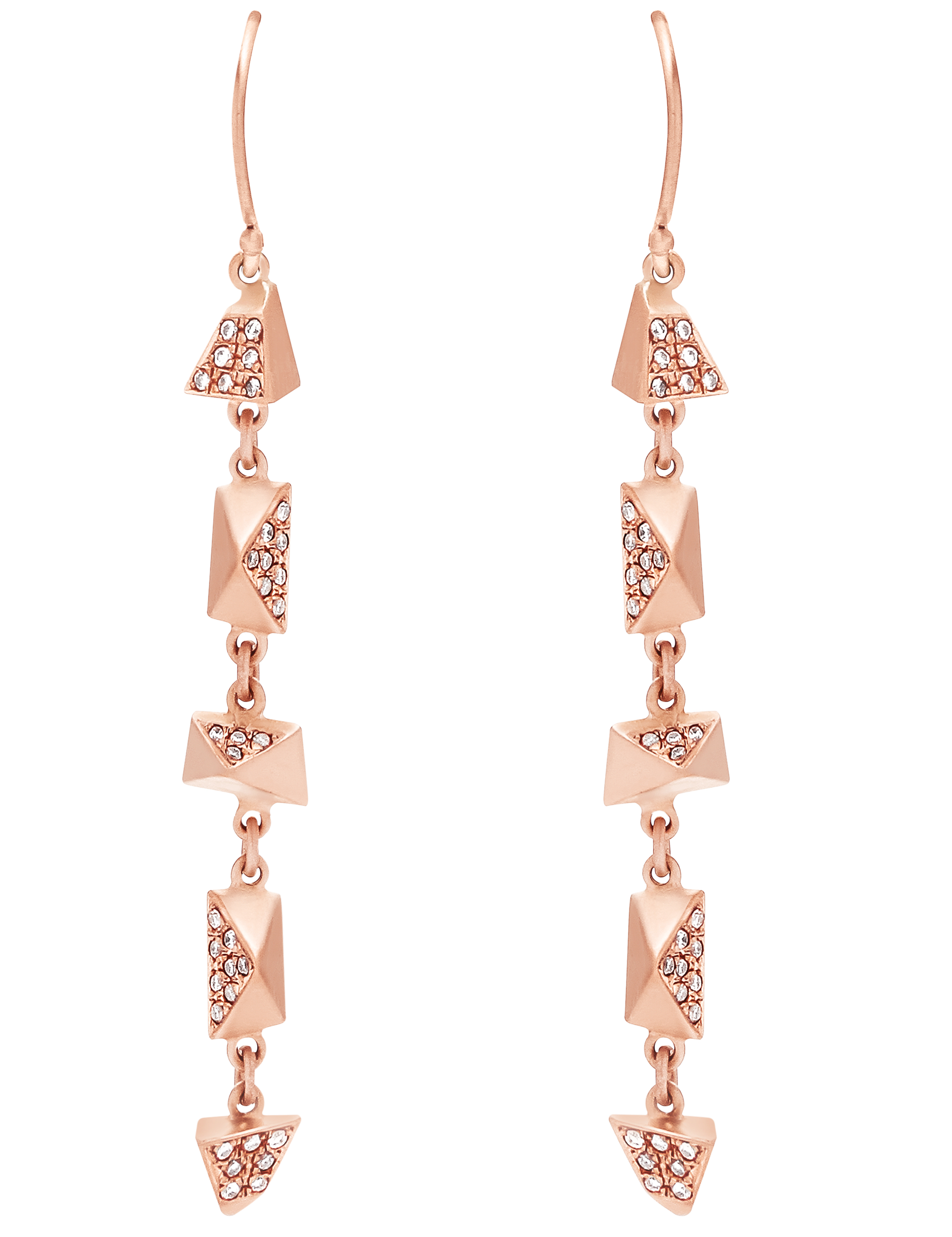 Dana Bronfman 5 Pi and Tri drop earrings | JCK On Your Market