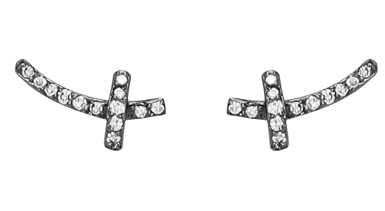 Dana Bronfman tiny cross stud earrings | JCK On Your Market