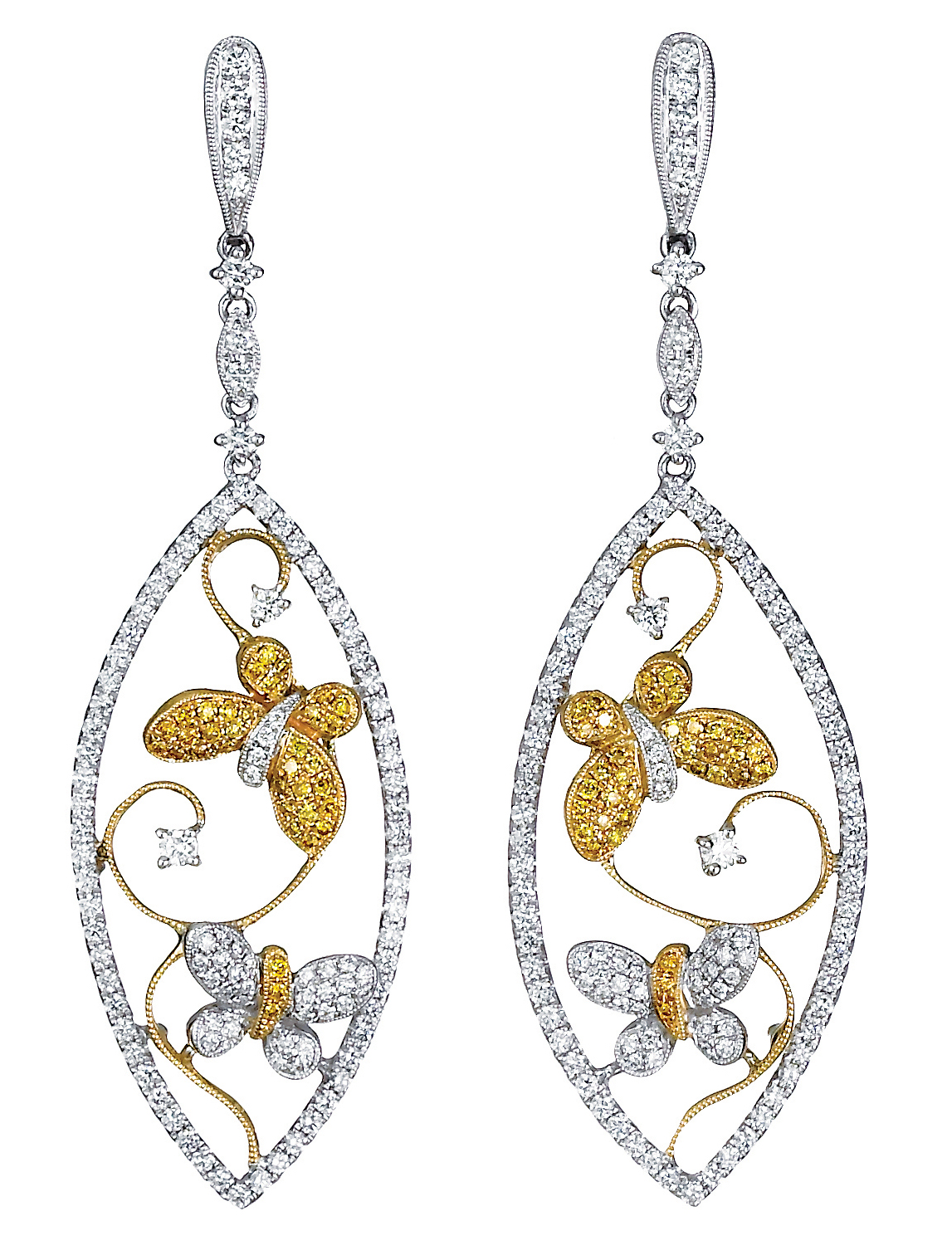 Jye Luxury Colection butterfly drop earrings | JCK On YOur Market