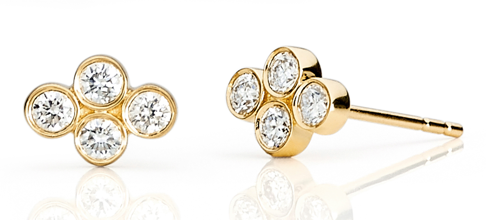 EF Collection diamond cluster stud earrings | JCK On Your Market