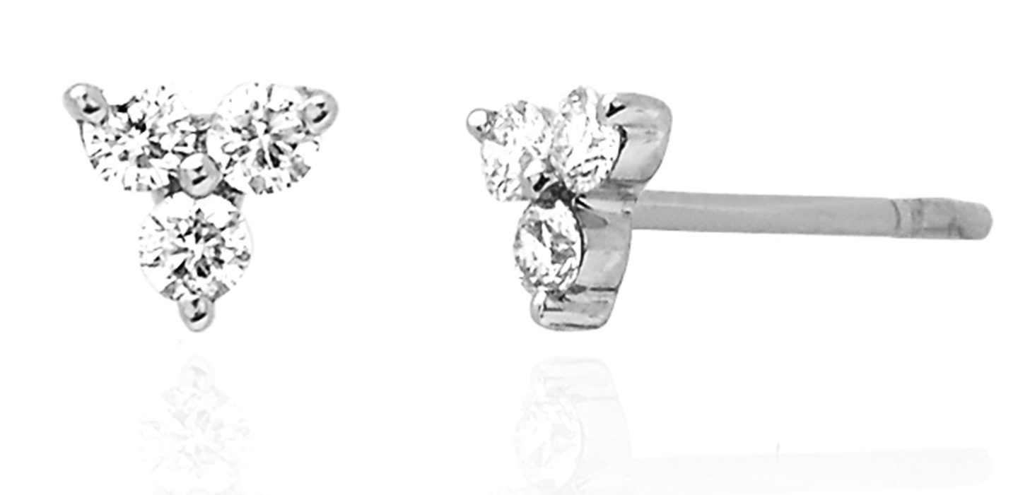EF Collection diamond trio stud earrings | JCK On Your Market