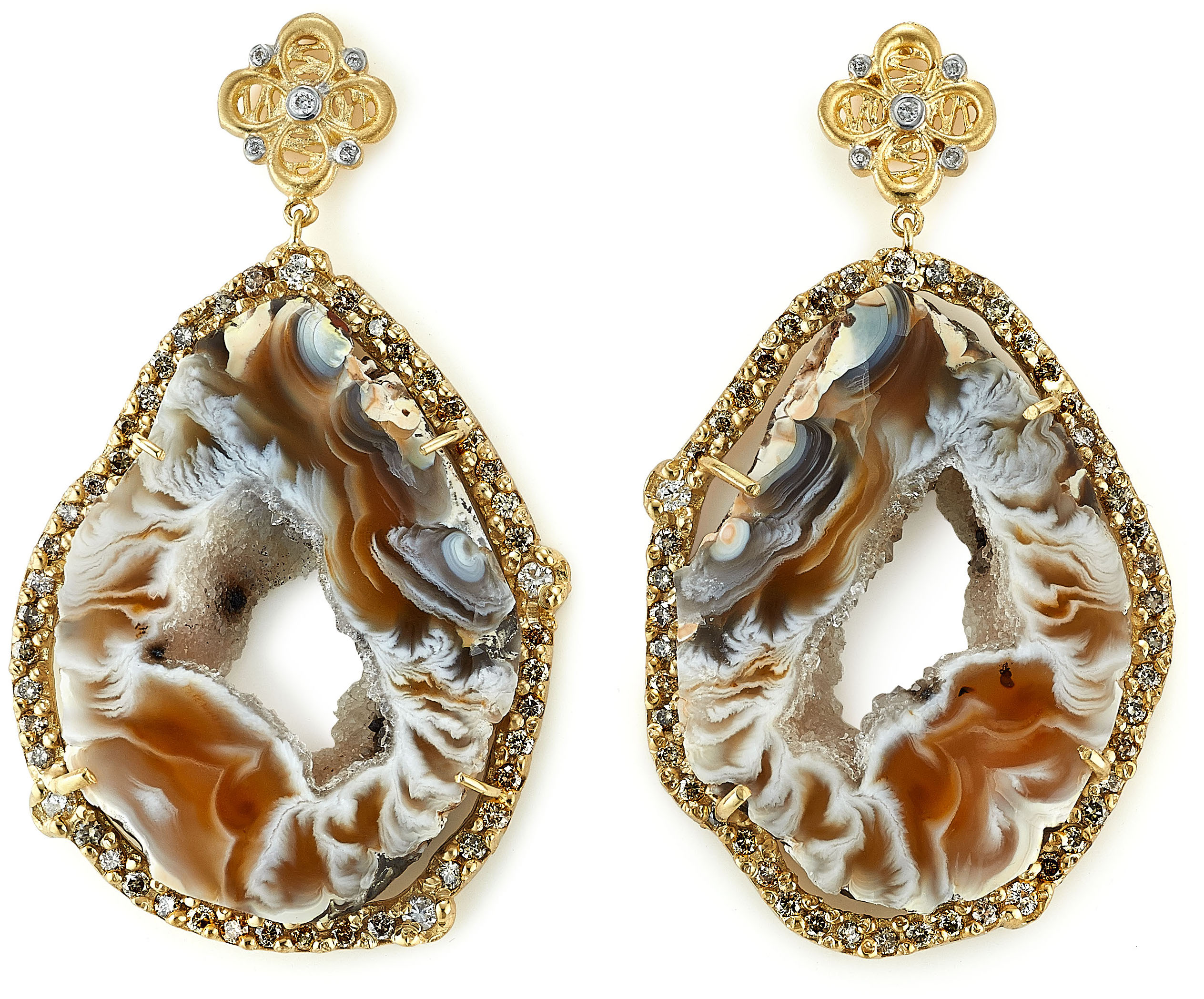 Tanya Farah organic geode drop earrings #BRITTSPICK | JCK On Your Market