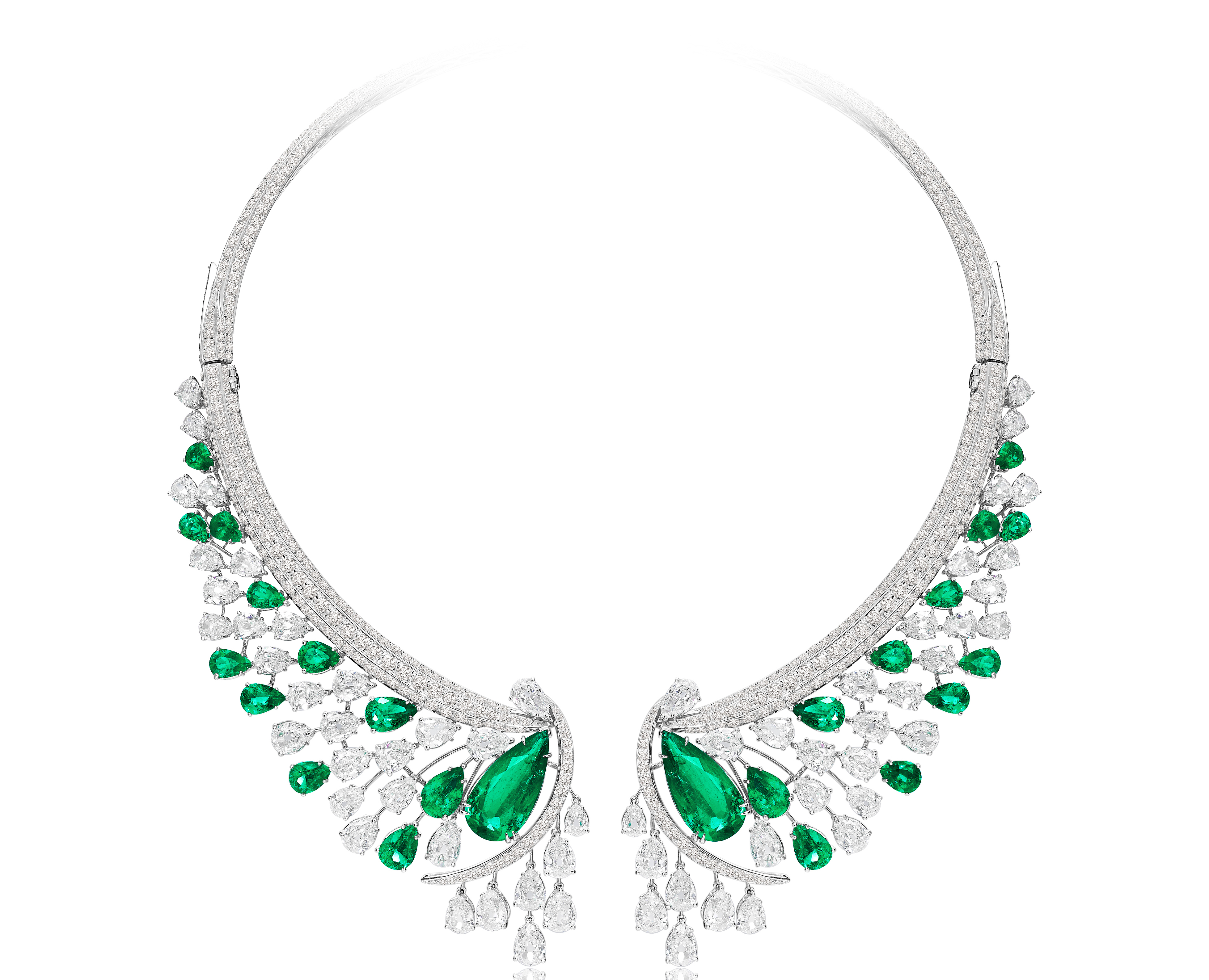 Sutra emerald and diamond collar necklace | JCK On Your Market