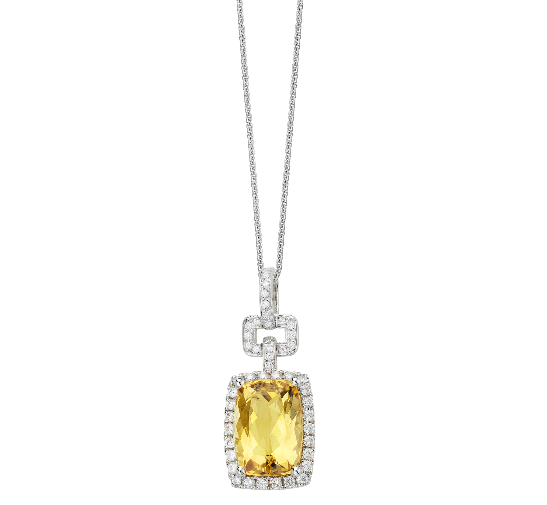 Artistry, Ltd. yellow beryl and diamond pendant | JCK On Your Market