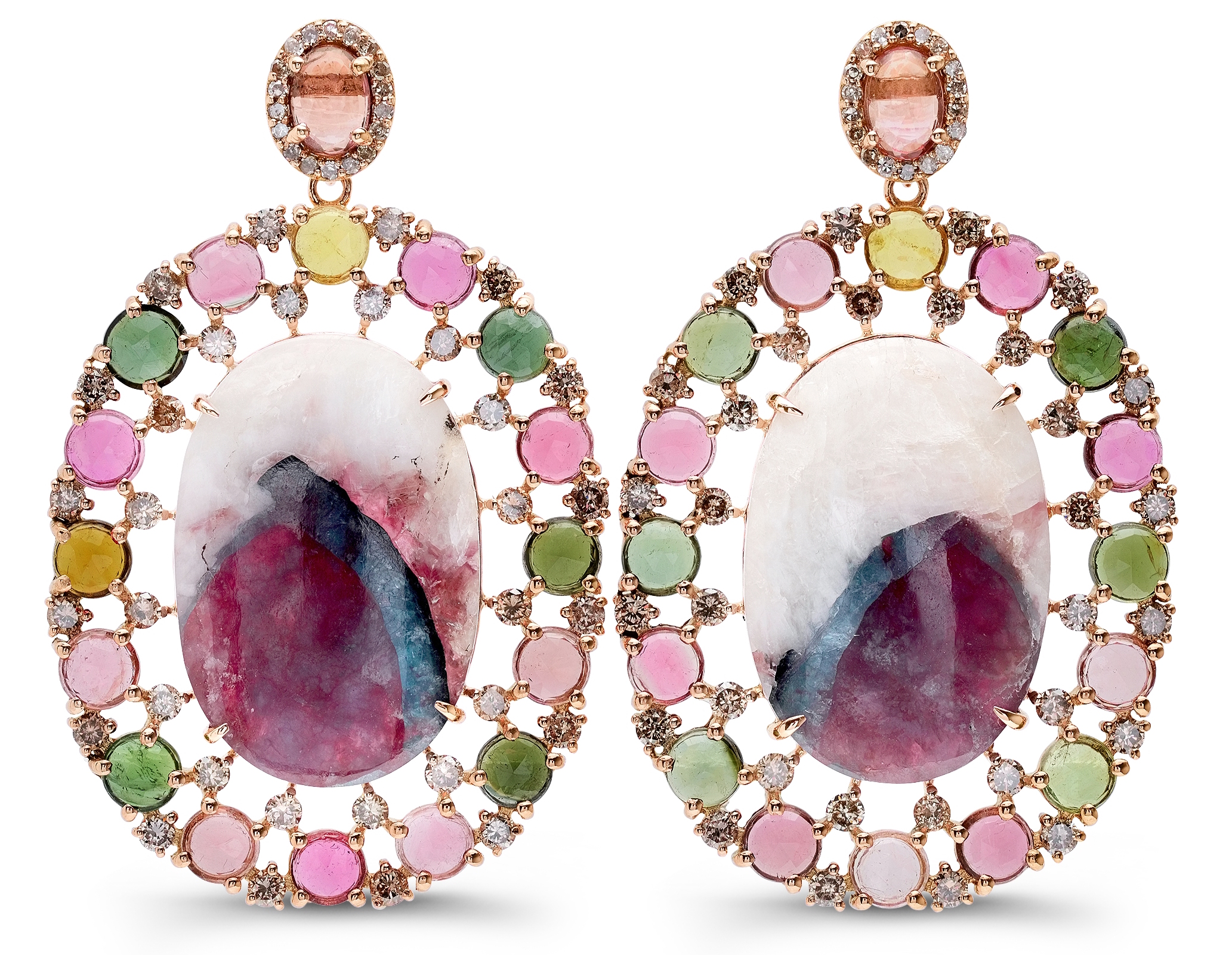 Bavna multicolor tourmaline earrings| JCK On Your Market
