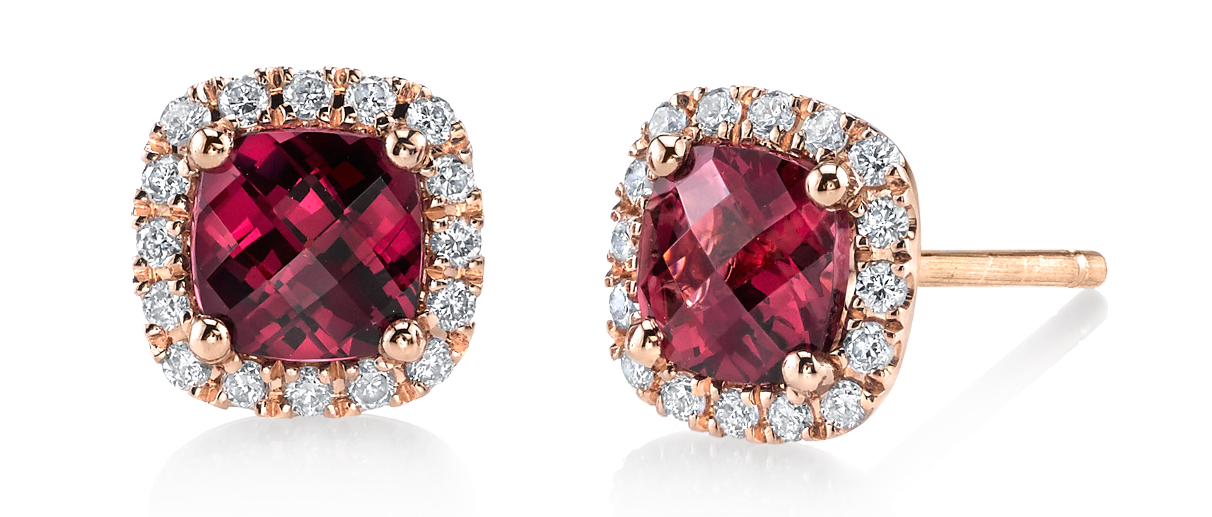Sylvie Collection garnet stud earrings | JCK On Your Market
