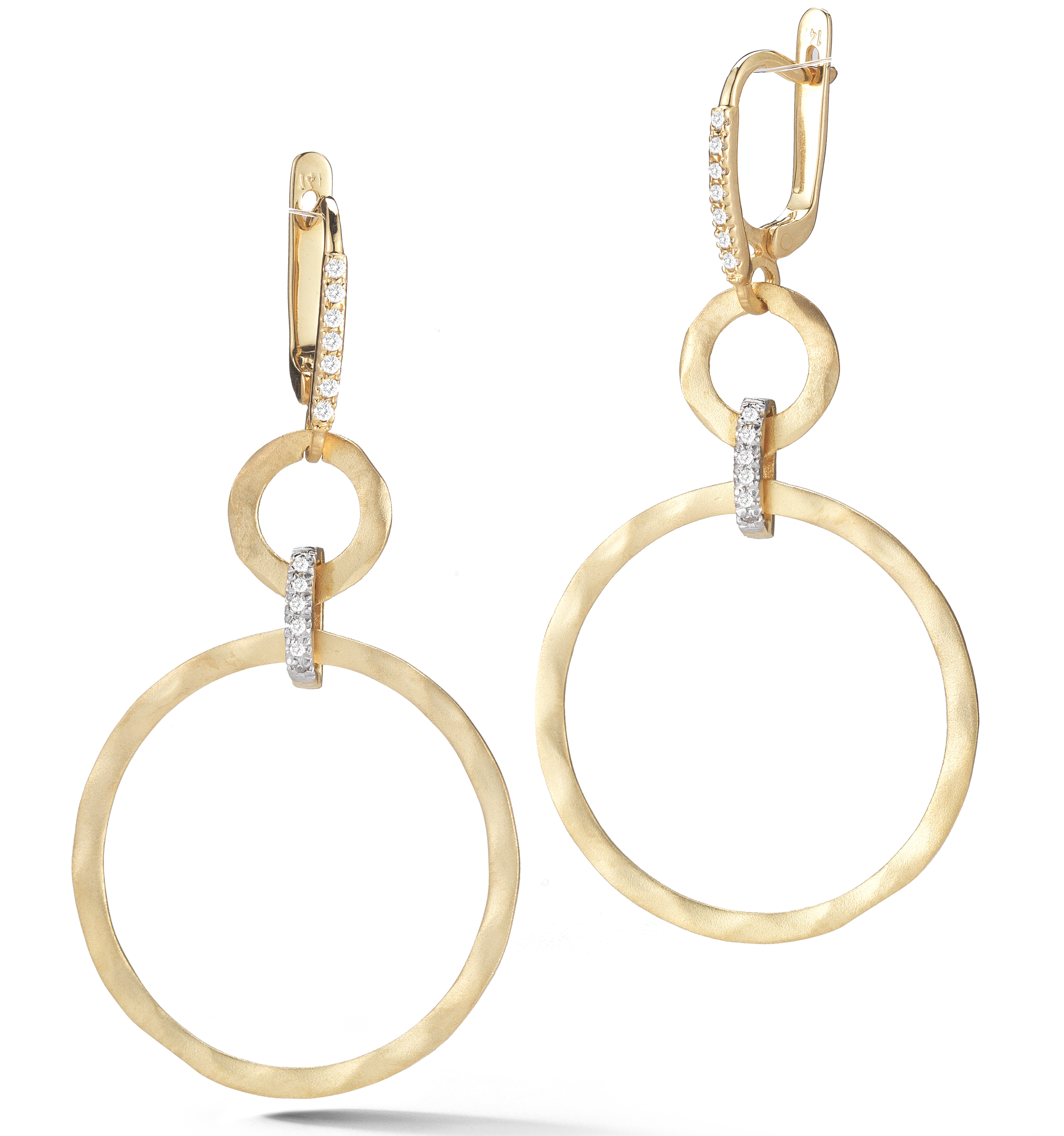 I. Reiss hammered circle drop earrings | JCK On Your Market