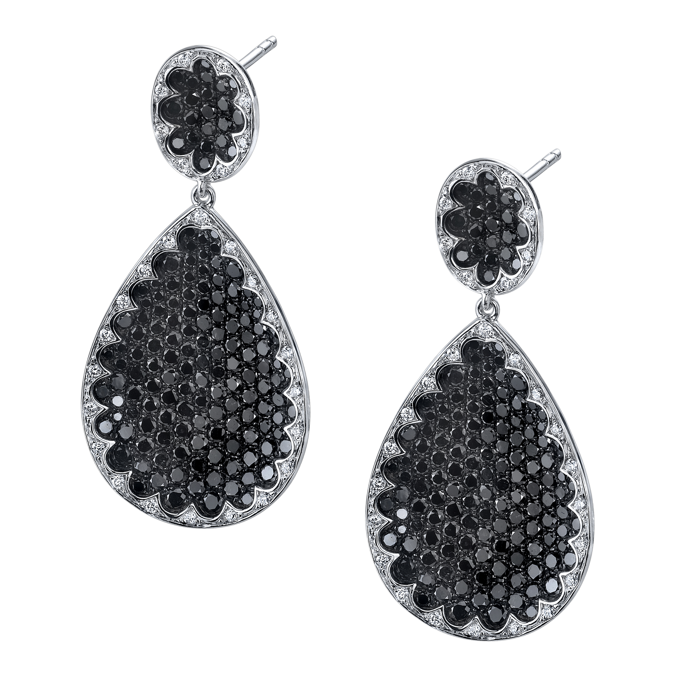 Sylvie Collection Glamorous black diamond drop earrings | JCK On Your Market