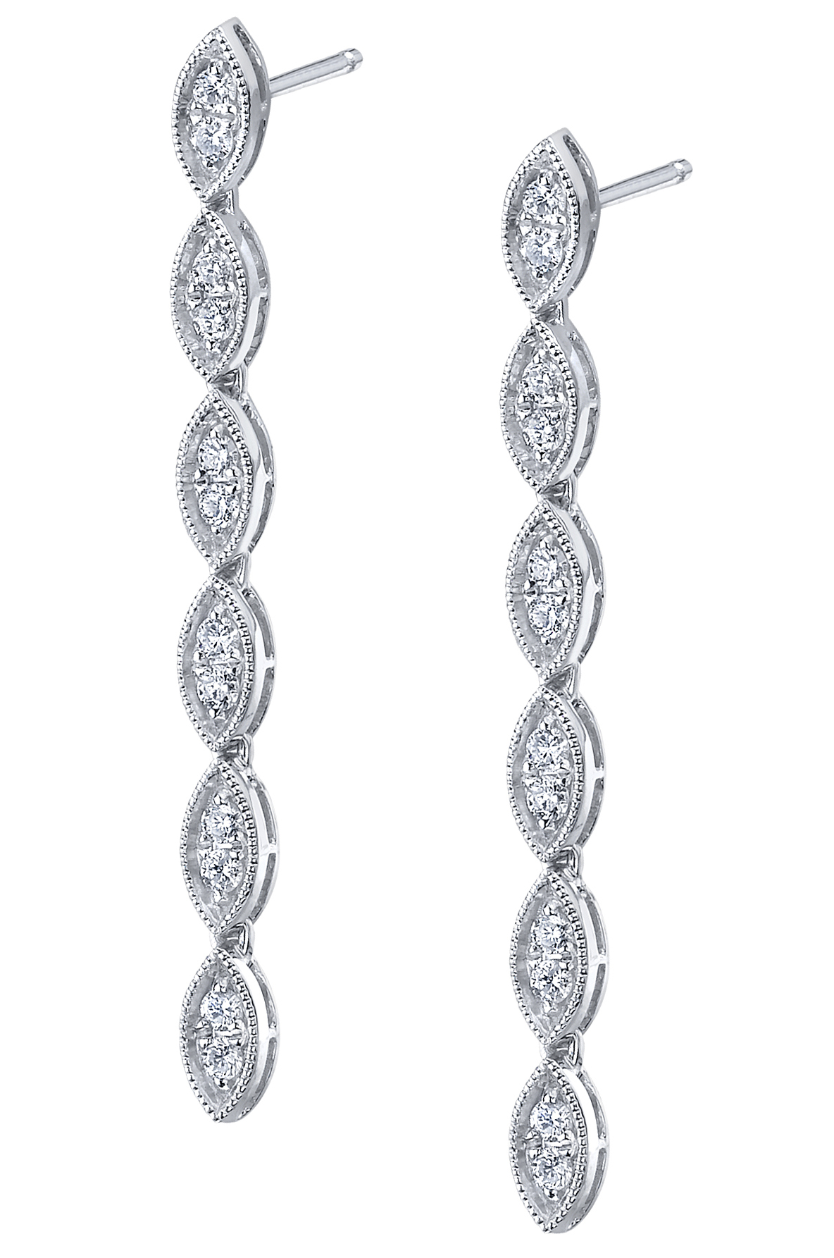 Sylvie Collection Vintage diamond dangle earrings | JCK On Your Market