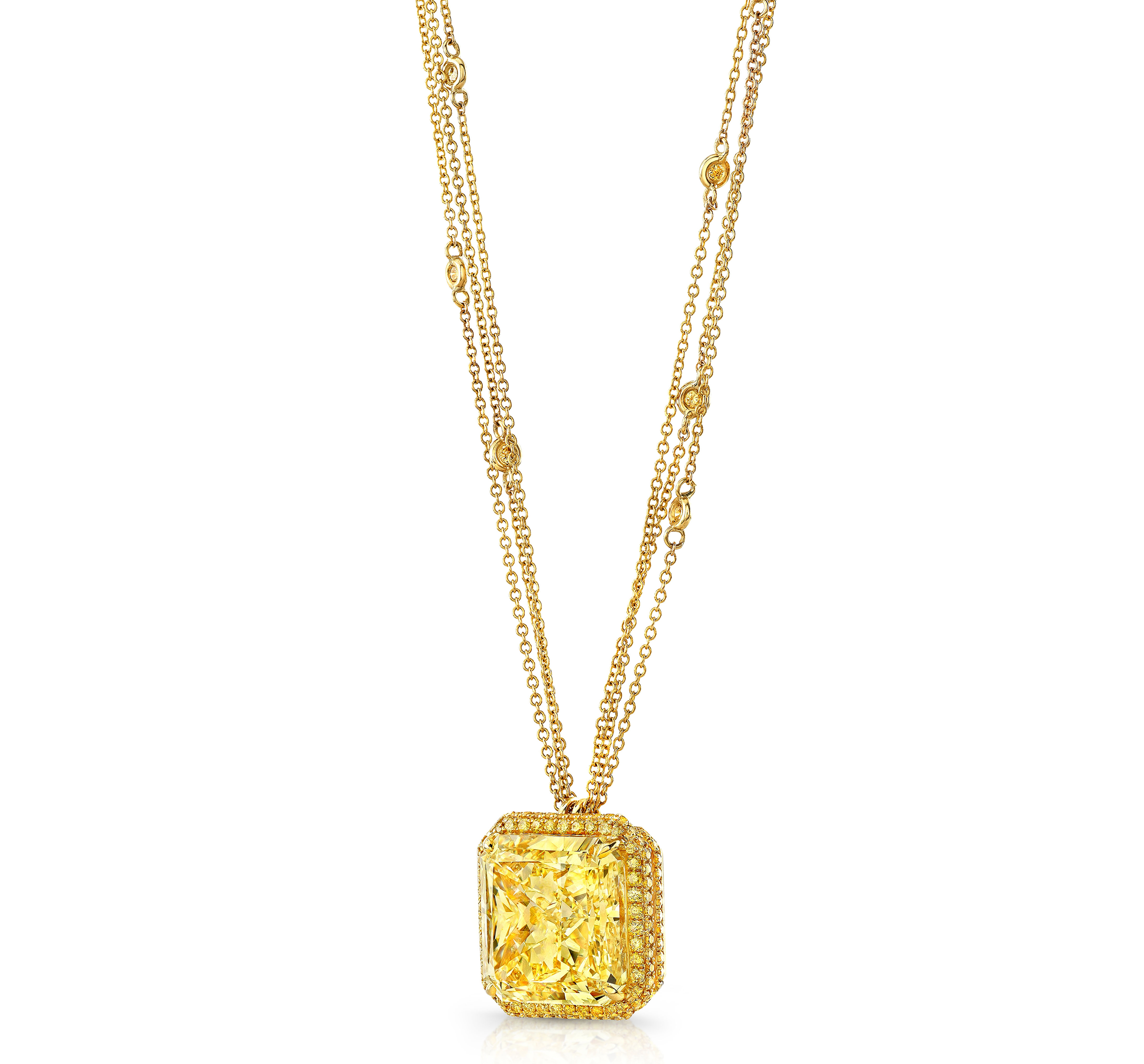 Norman Silverman fancy yellow diamond pendant | JCK On Your Market