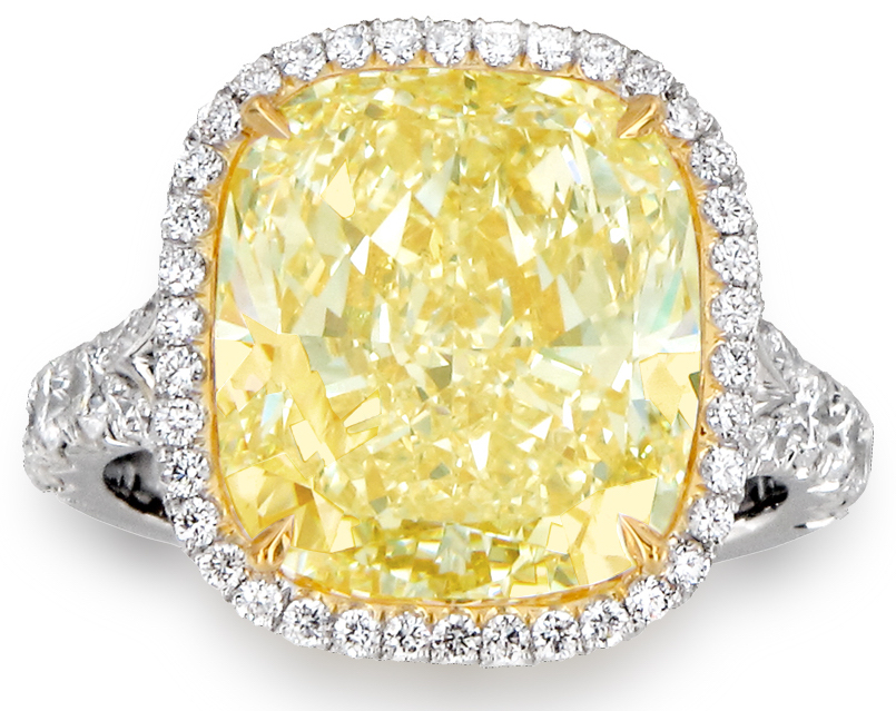 Louis Creations fancy yellow diamond ring | JCK On Your Market