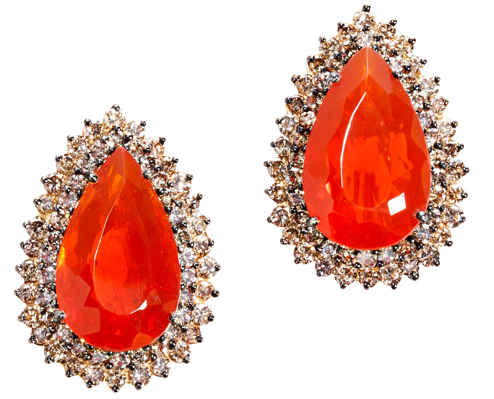 Graziela Gems fire opal stud earrings | JCK On Your Market