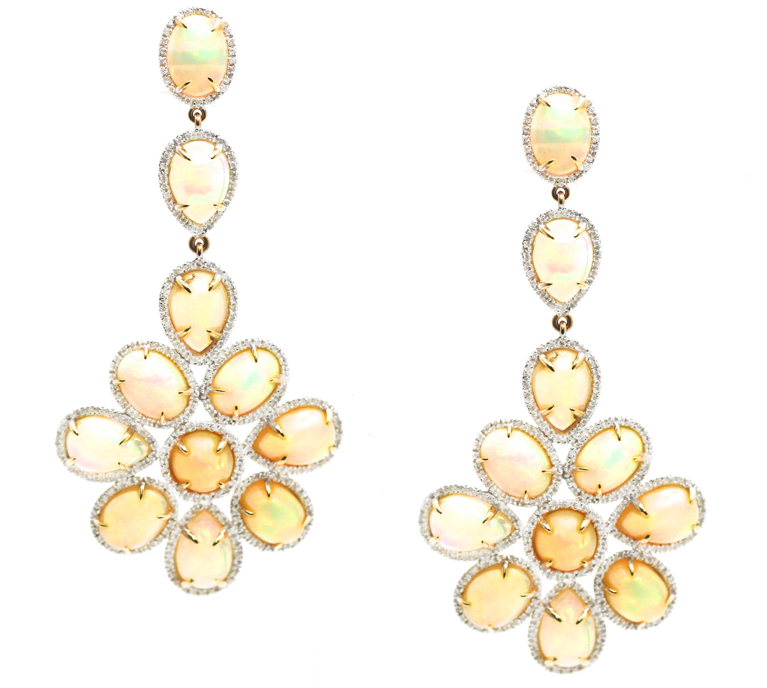 Tresor Ethiopian opal chandelier earrings | JCK On Your Market